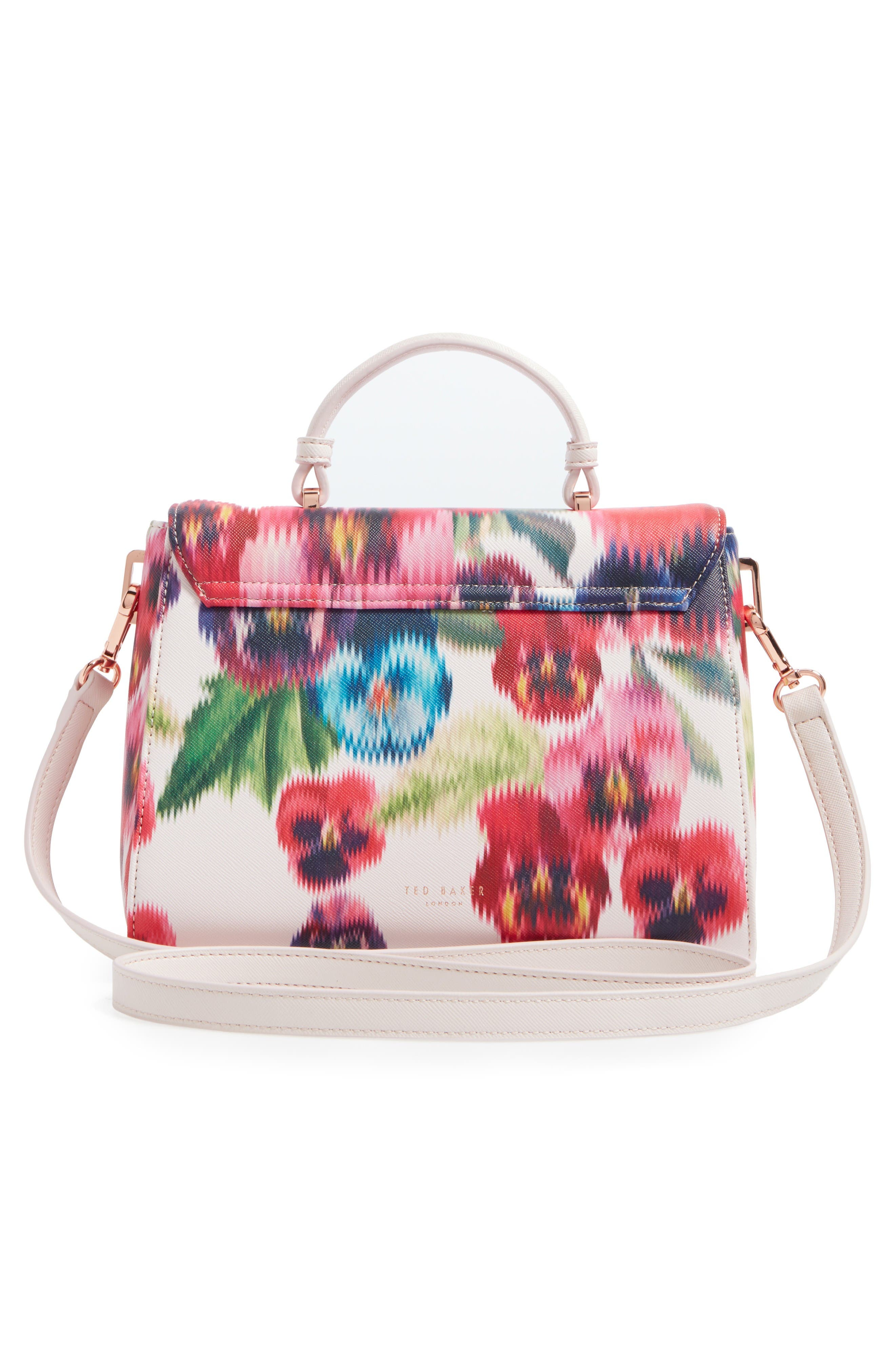 Alternate Image 2  - Ted Baker London Expressive Pansy Faux Leather Top Handle Satchel