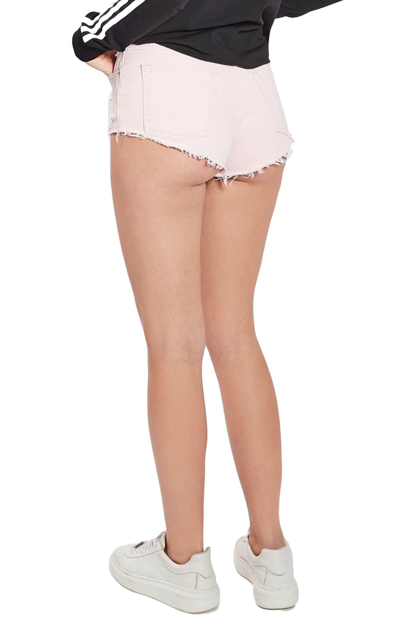 Alternate Image 3  - Topshop Ripped Mini Denim Shorts (Regular & Petite)