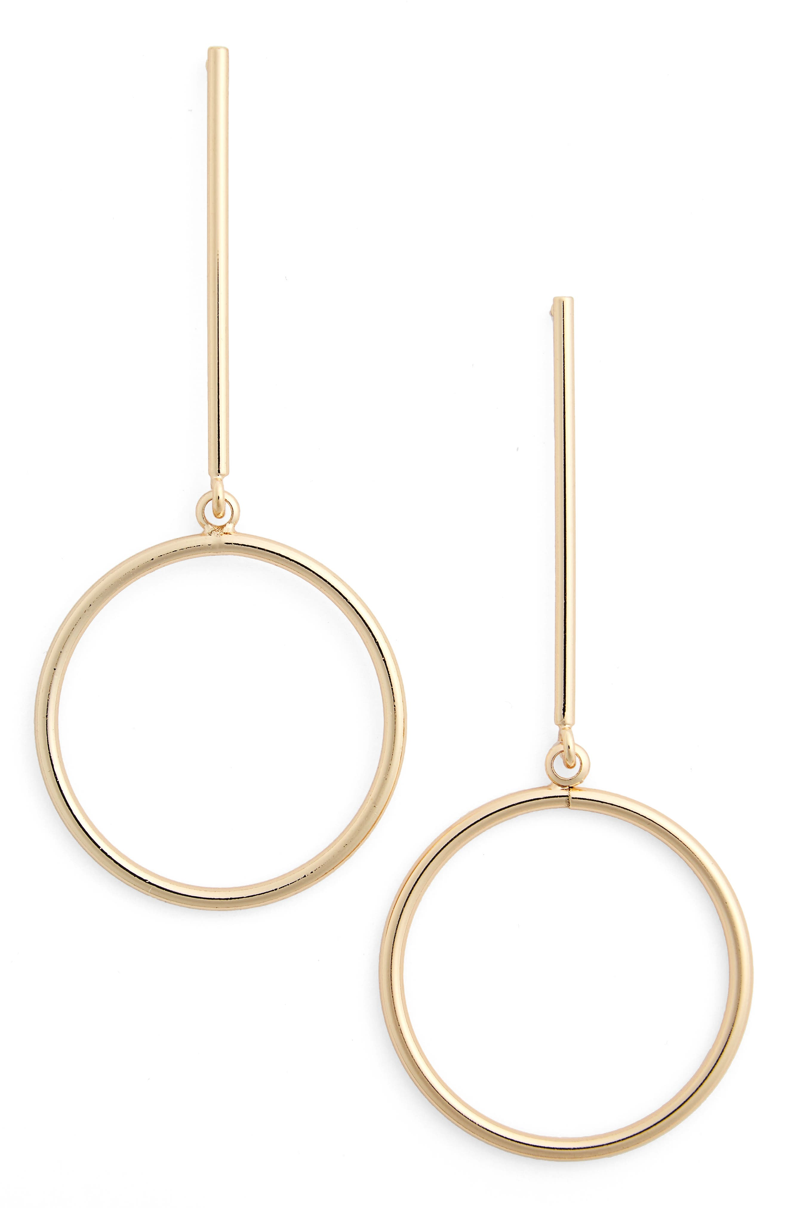Nordstrom Circle Drop Earrings