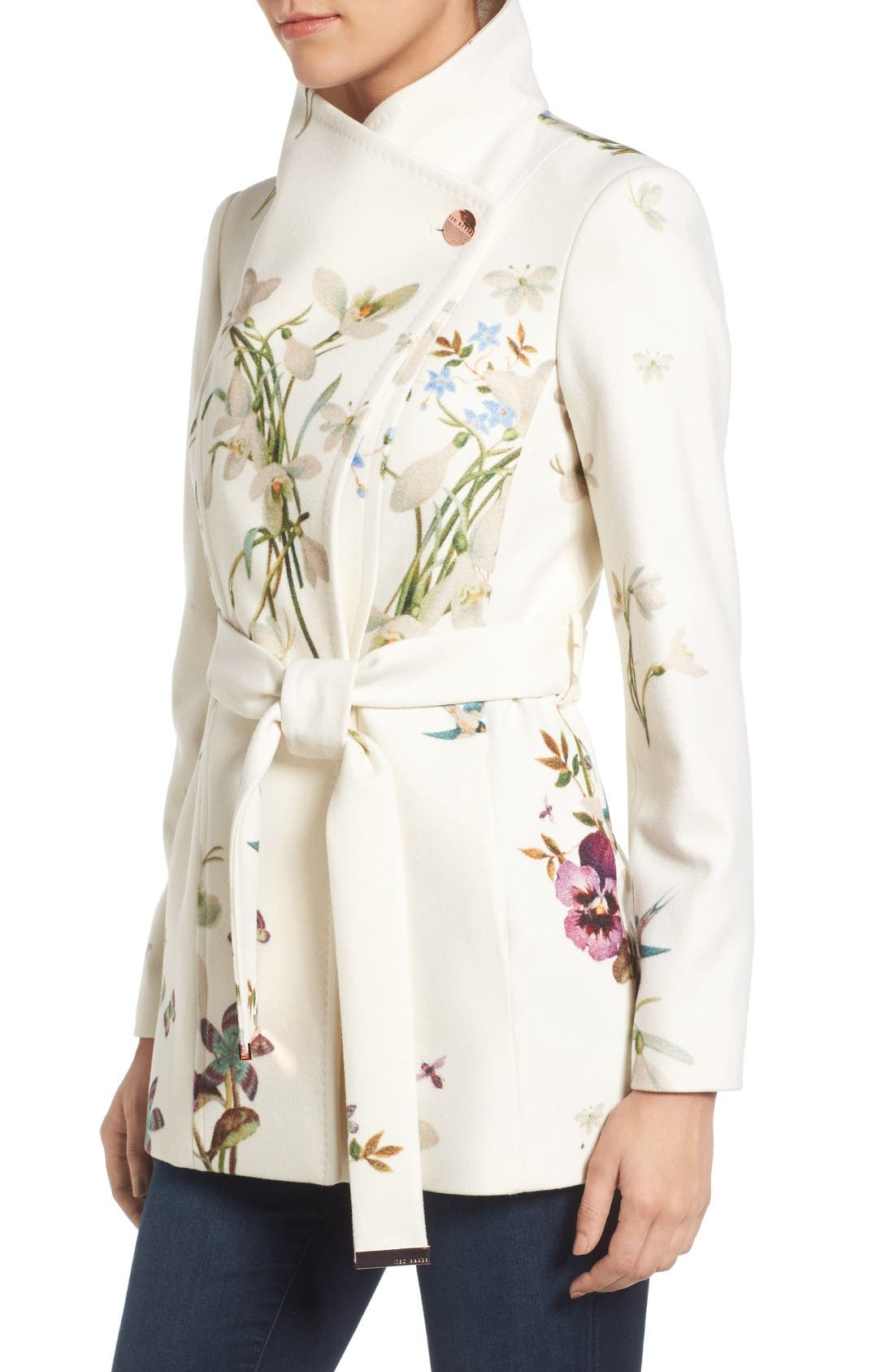 Alternate Image 3  - Ted Baker London Spring Meadow Wool Blend Wrap Coat
