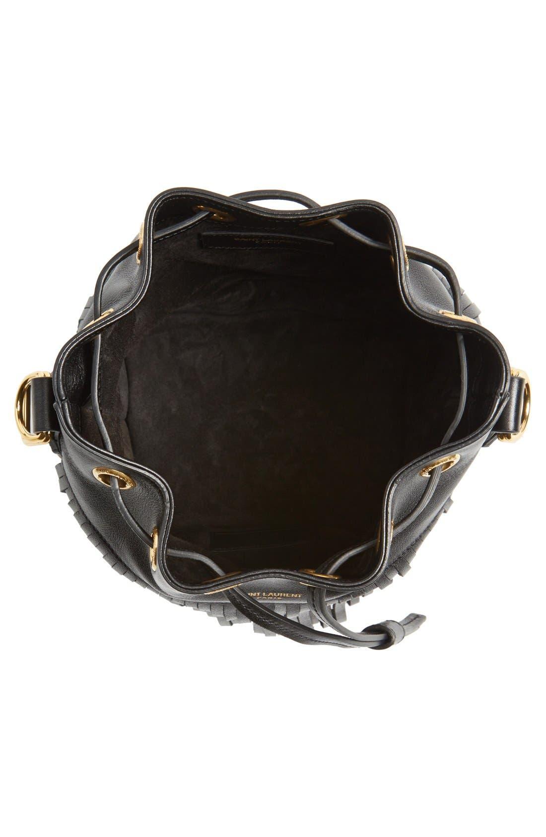 Alternate Image 3  - Saint Laurent Fringe Calfskin Bucket Bag