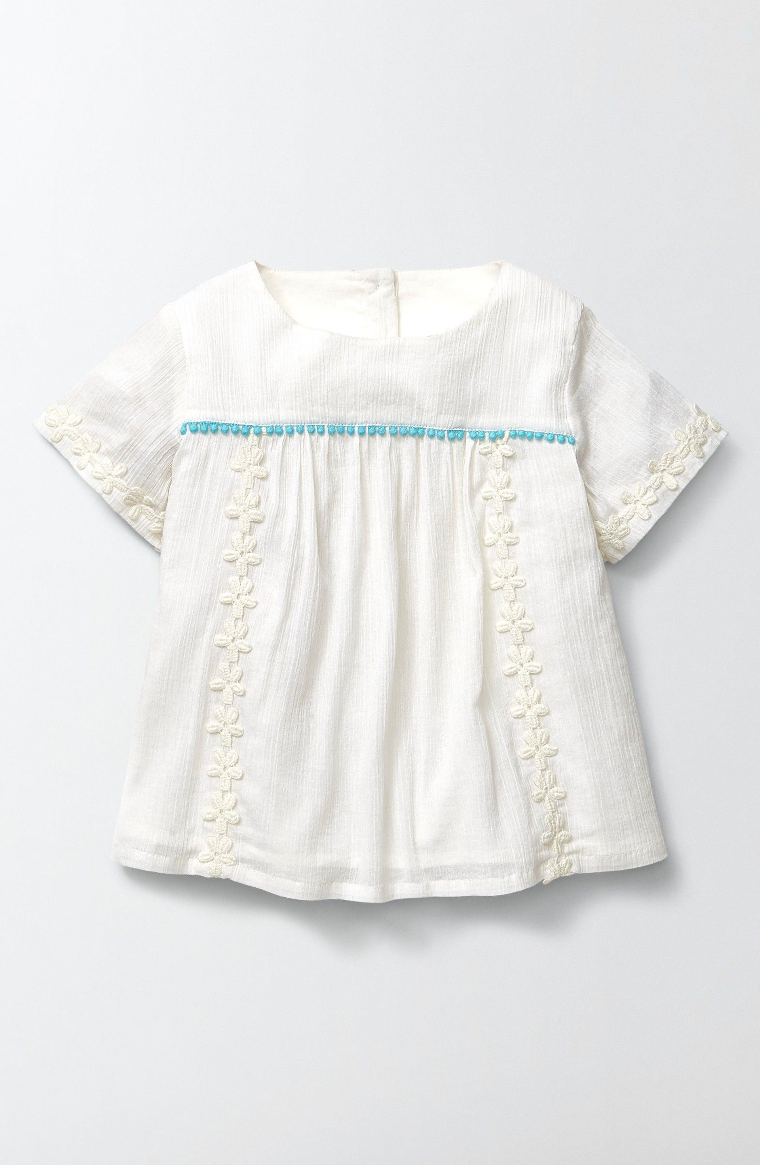 Mini Boden Daisy Woven Top (Toddler Girls, Little Girls & Big Girls)