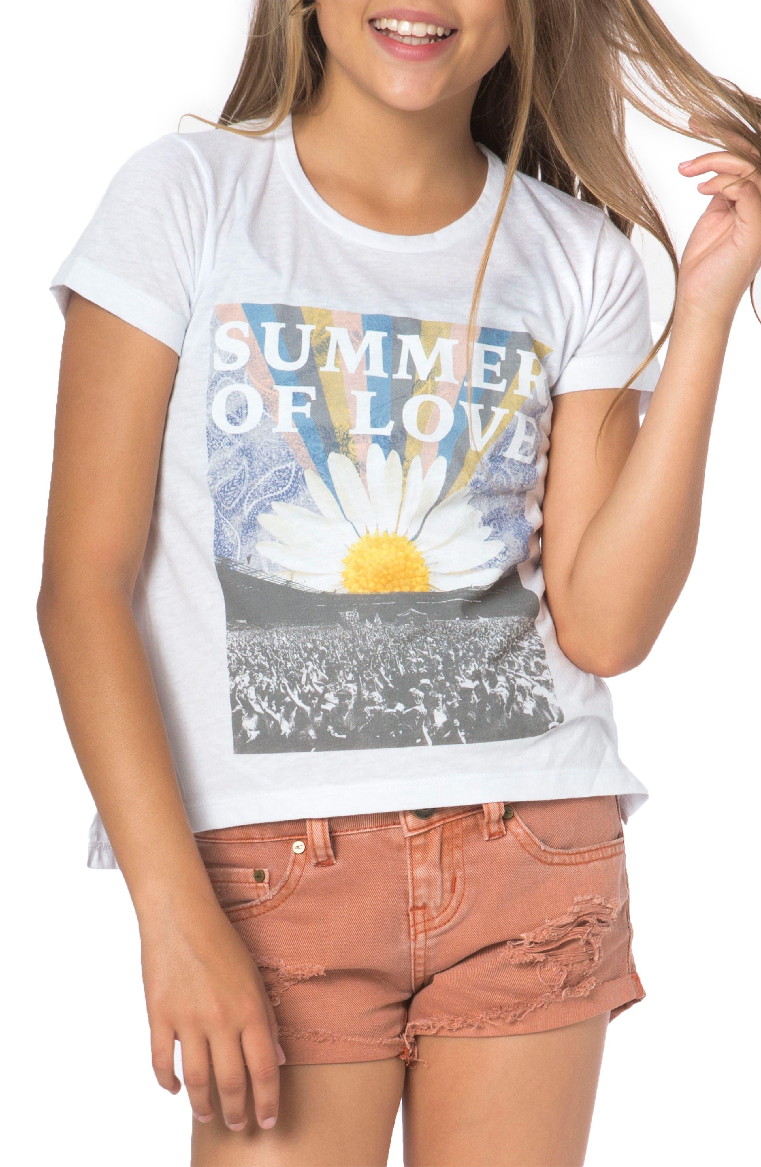 O'Neill Summer of Love Graphic Tee (Big Girls)