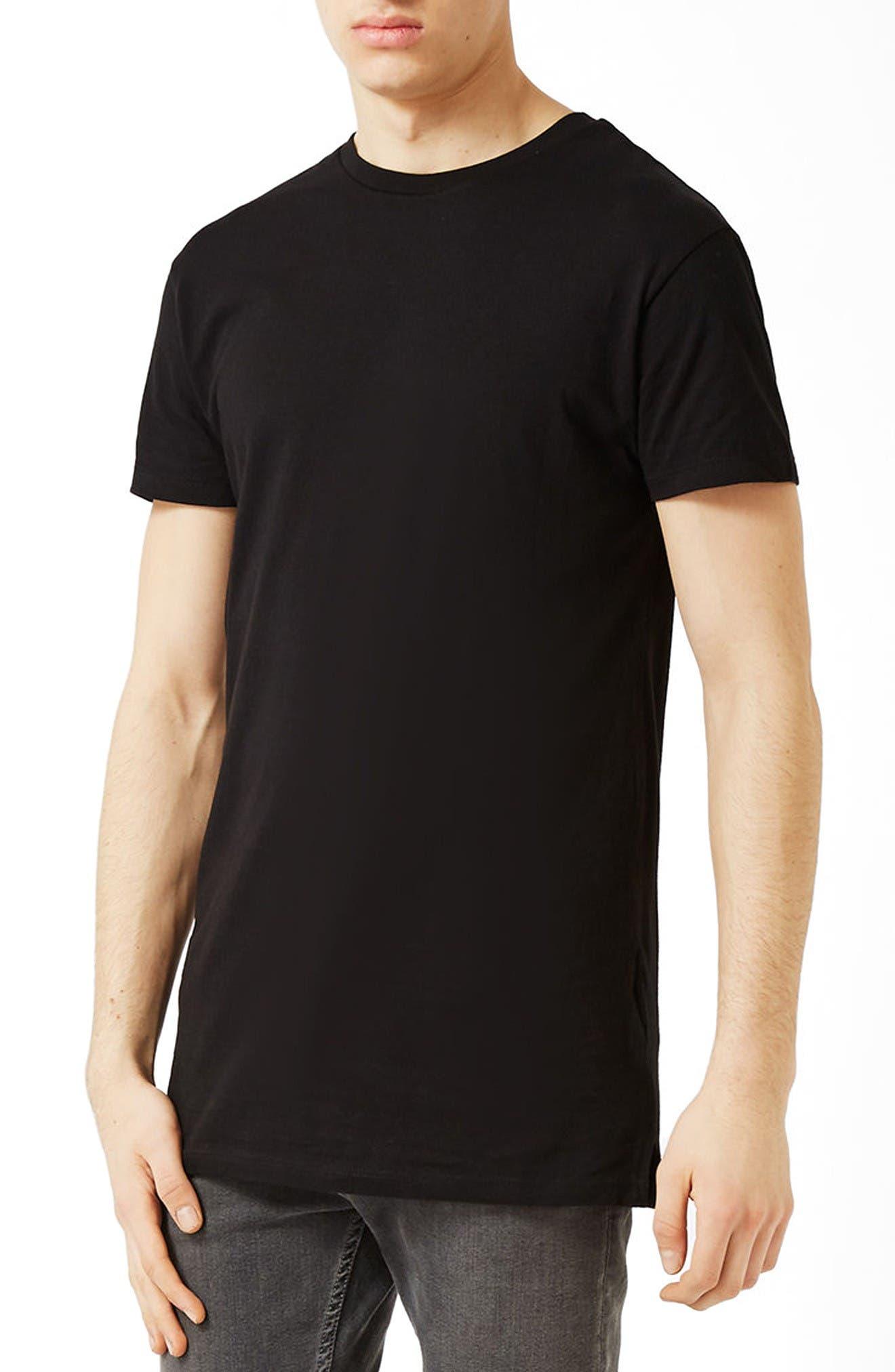 Topman Muscle Fit Longline T-Shirt