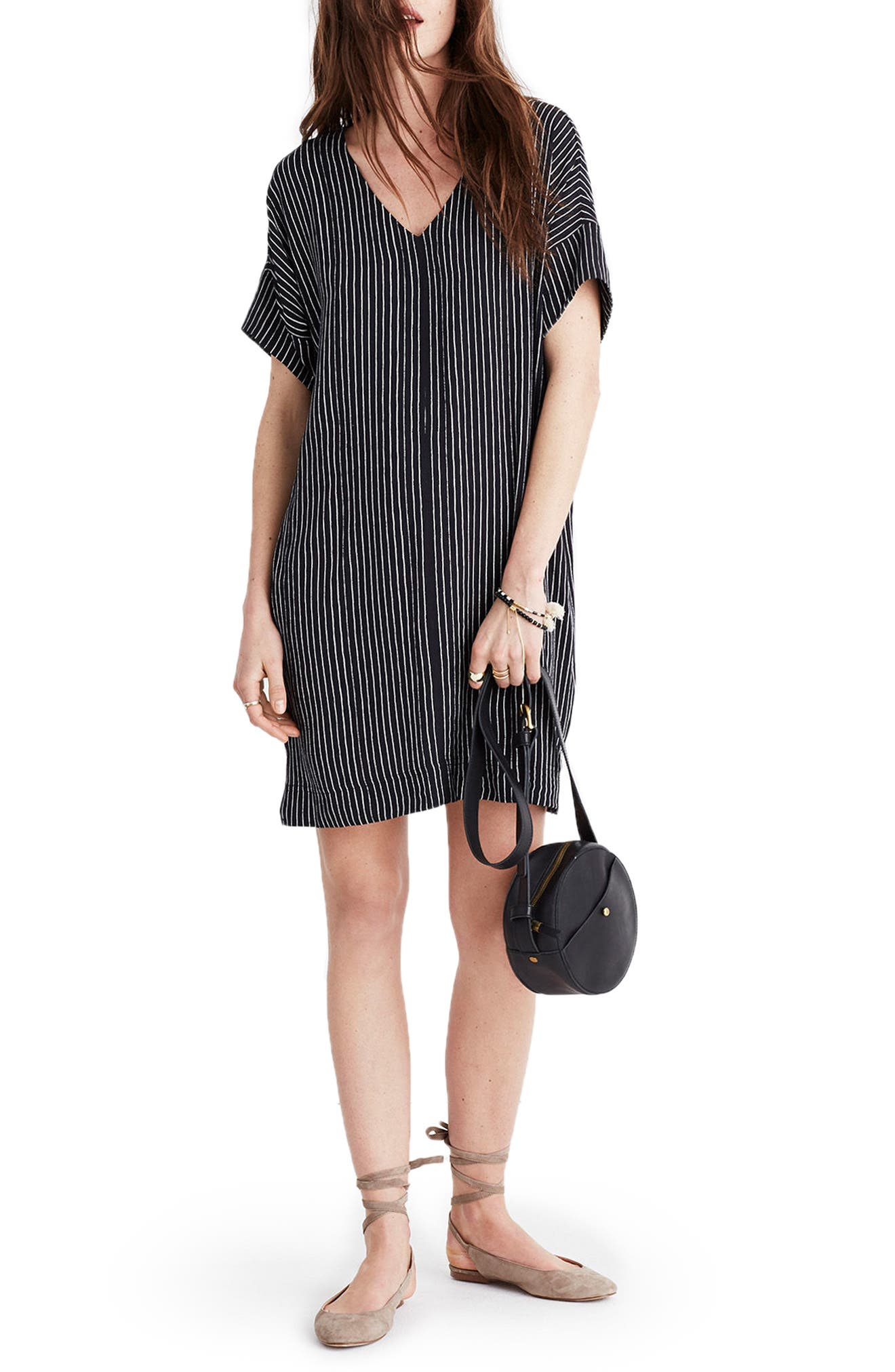 Alternate Image 1 Selected - Madewell Novel Chalkboard Stripe Dress