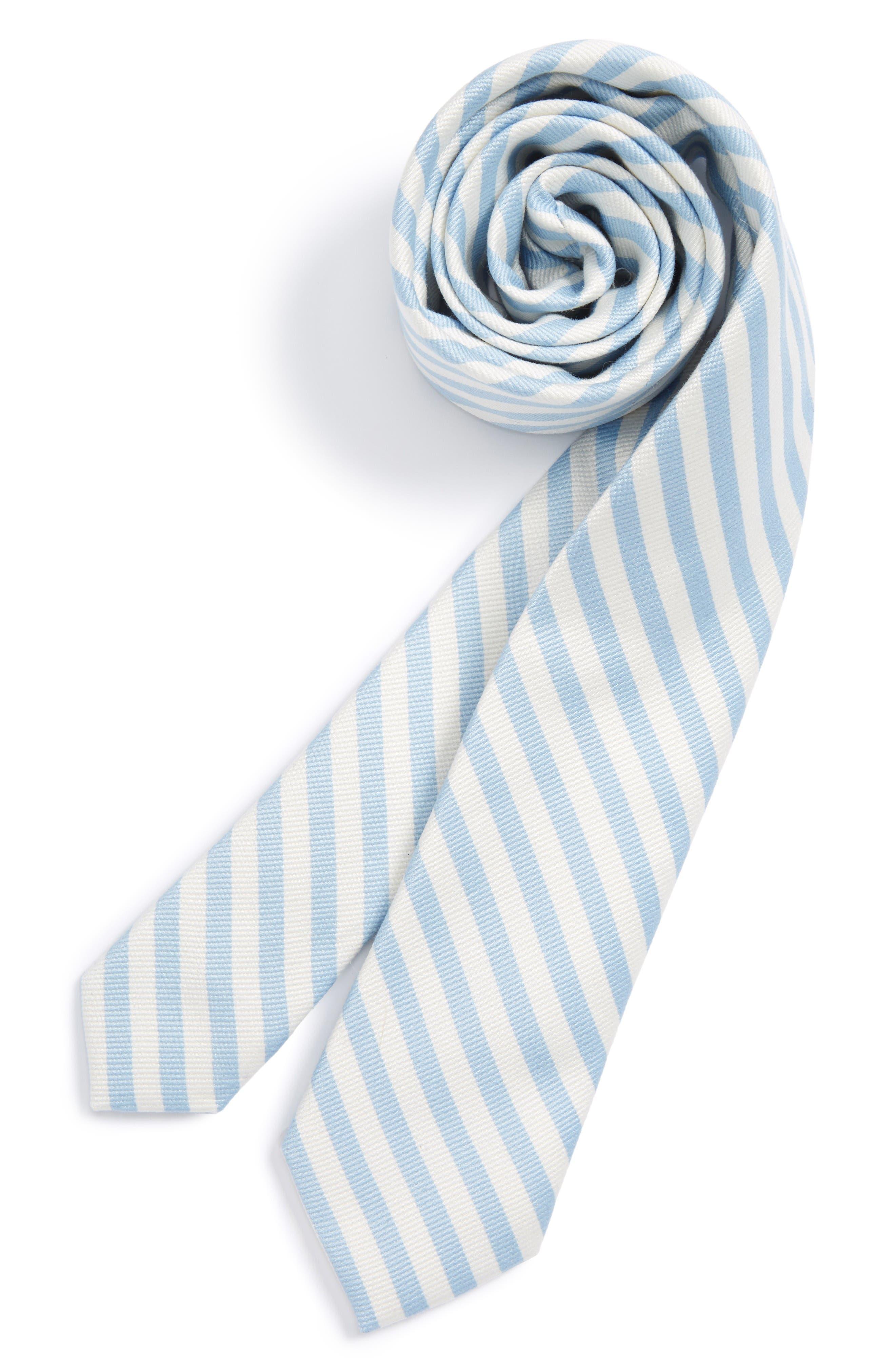 Nordstrom Stripe Cotton & Silk Tie (Big Boys)