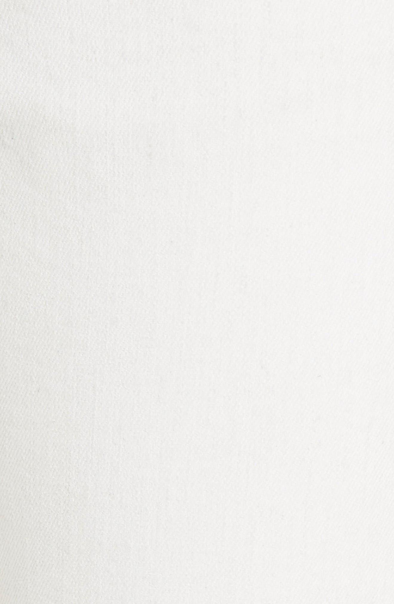 Alternate Image 5  - rag & bone/JEAN Capri Skinny Jeans (Blanc with Fray)