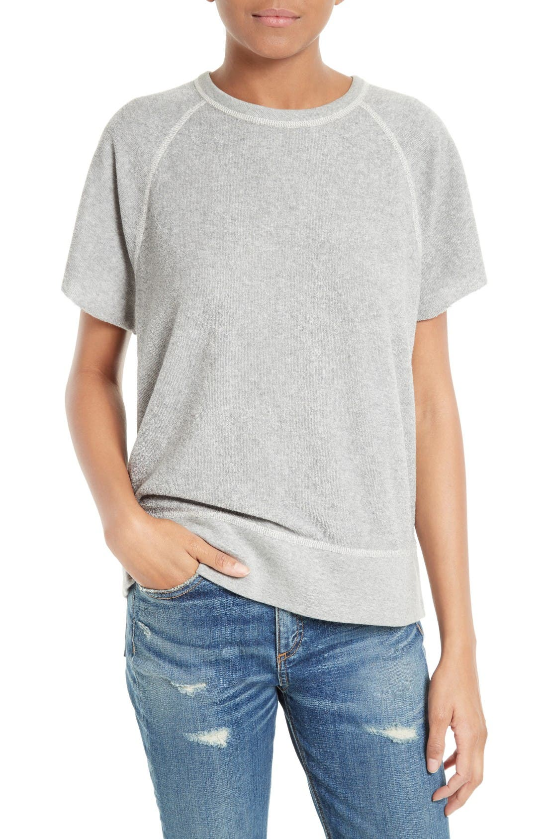 rag & bone/JEAN Rocky Terry Cloth Pullover