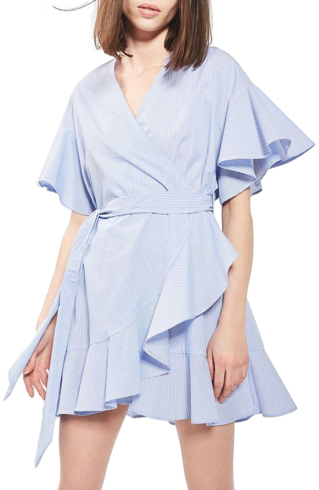 Alternate Image 1 Selected - Topshop Stripe Wrap Dress