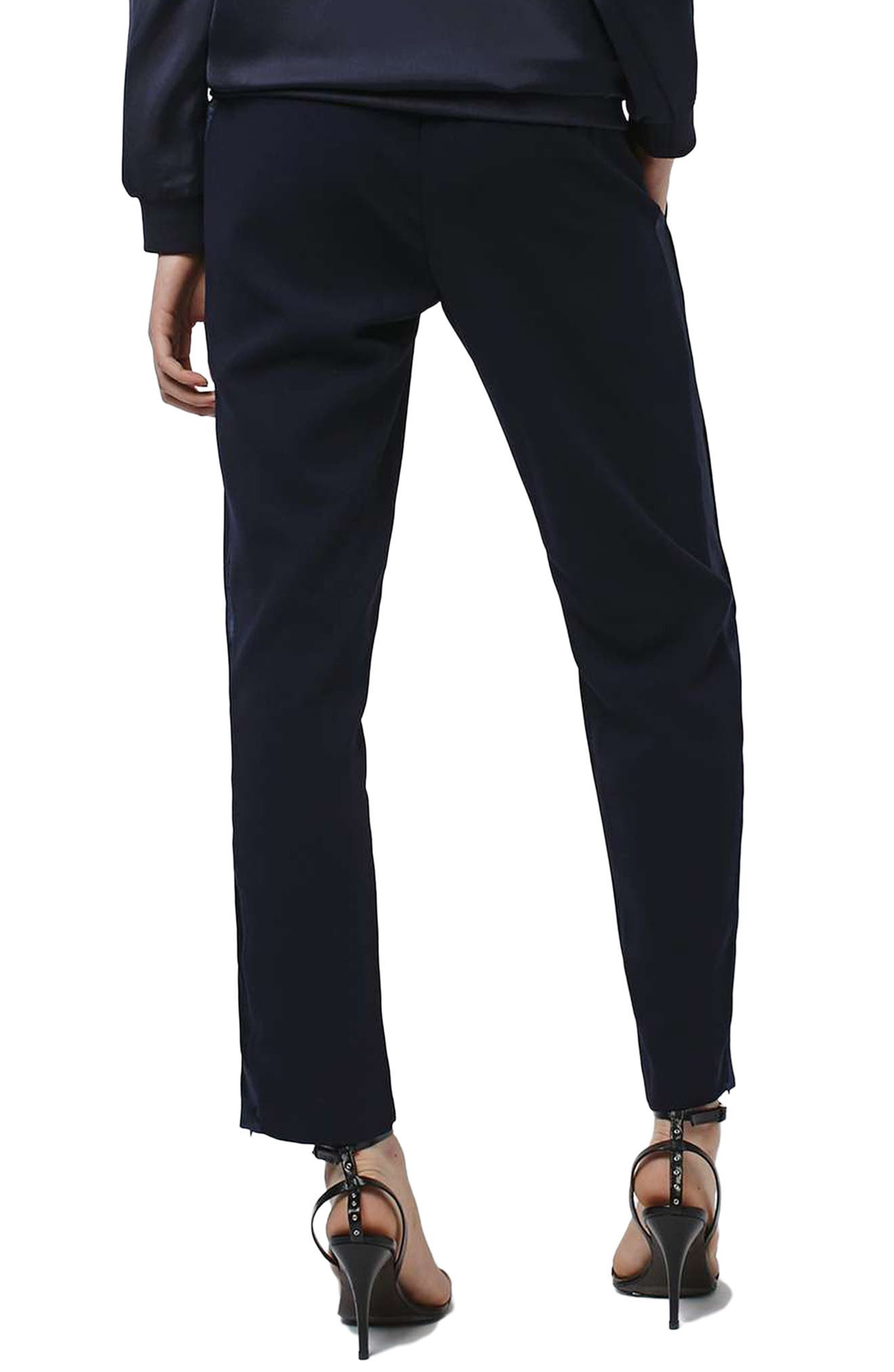Alternate Image 3  - Topshop Contrast Piped Ankle Zip Jogger Pants