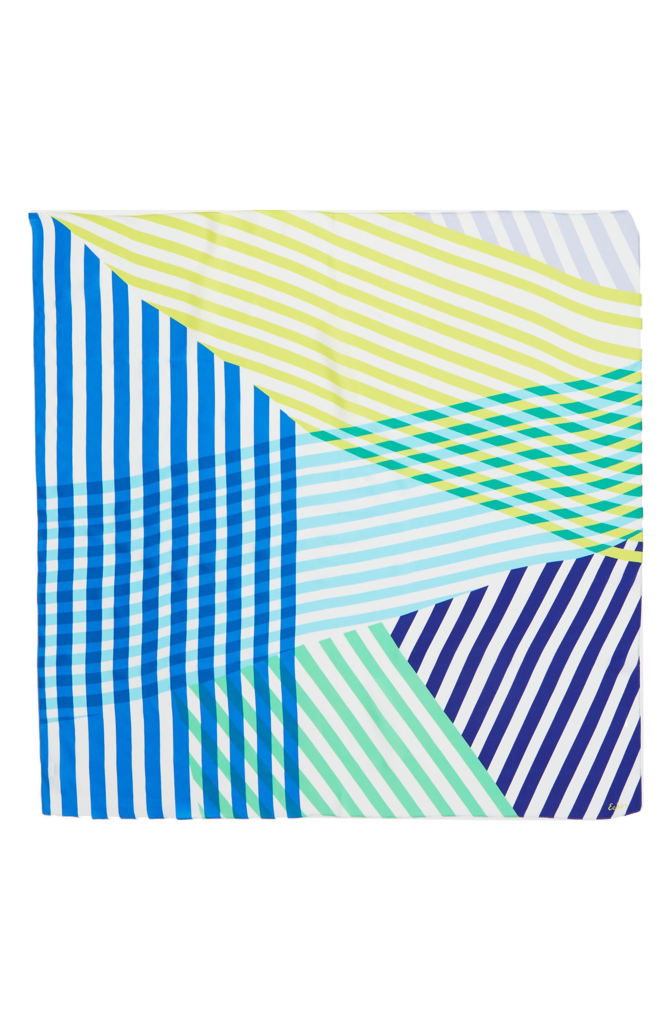 Alternate Image 2  - Echo Cambon Stripe Silk Square Scarf