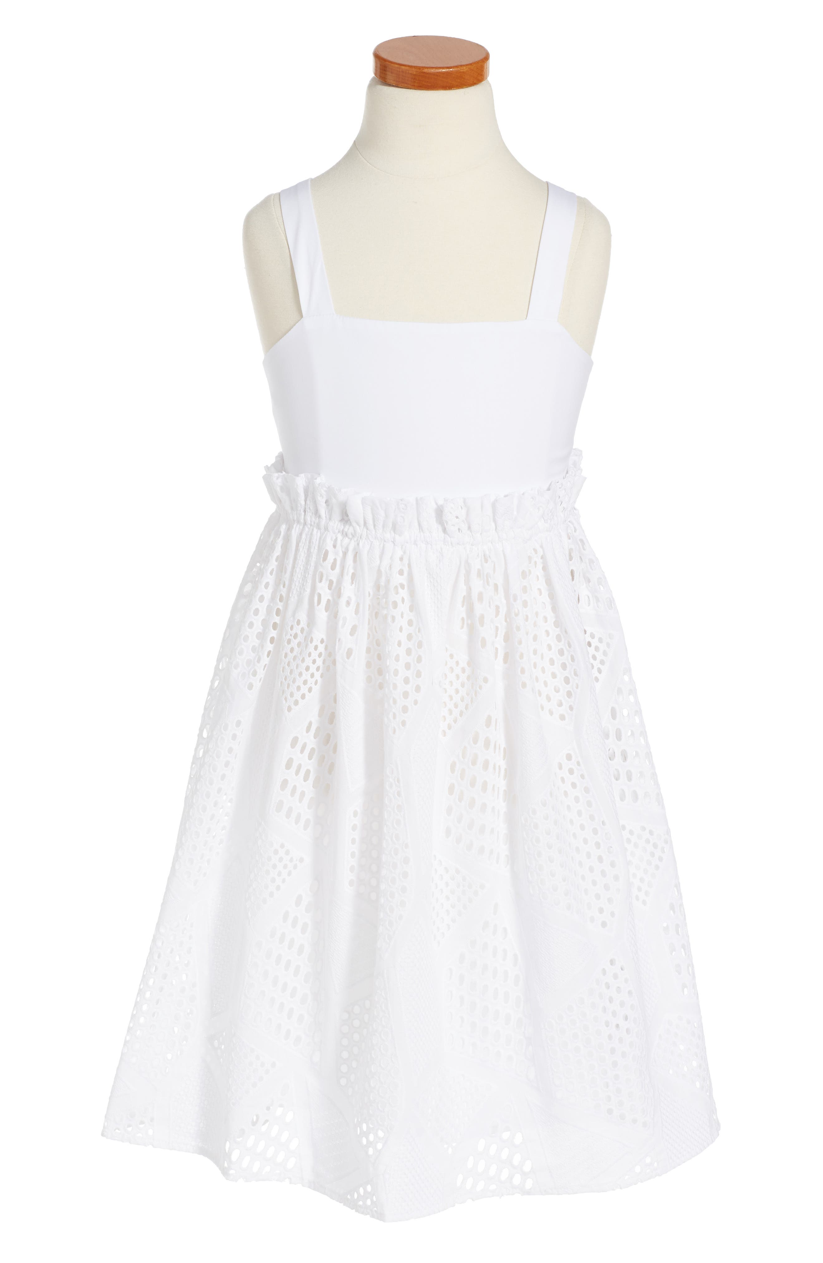 Milly Minis Eyelet Midi Sundress (Toddler Girls, Little Girls & Big Girls)