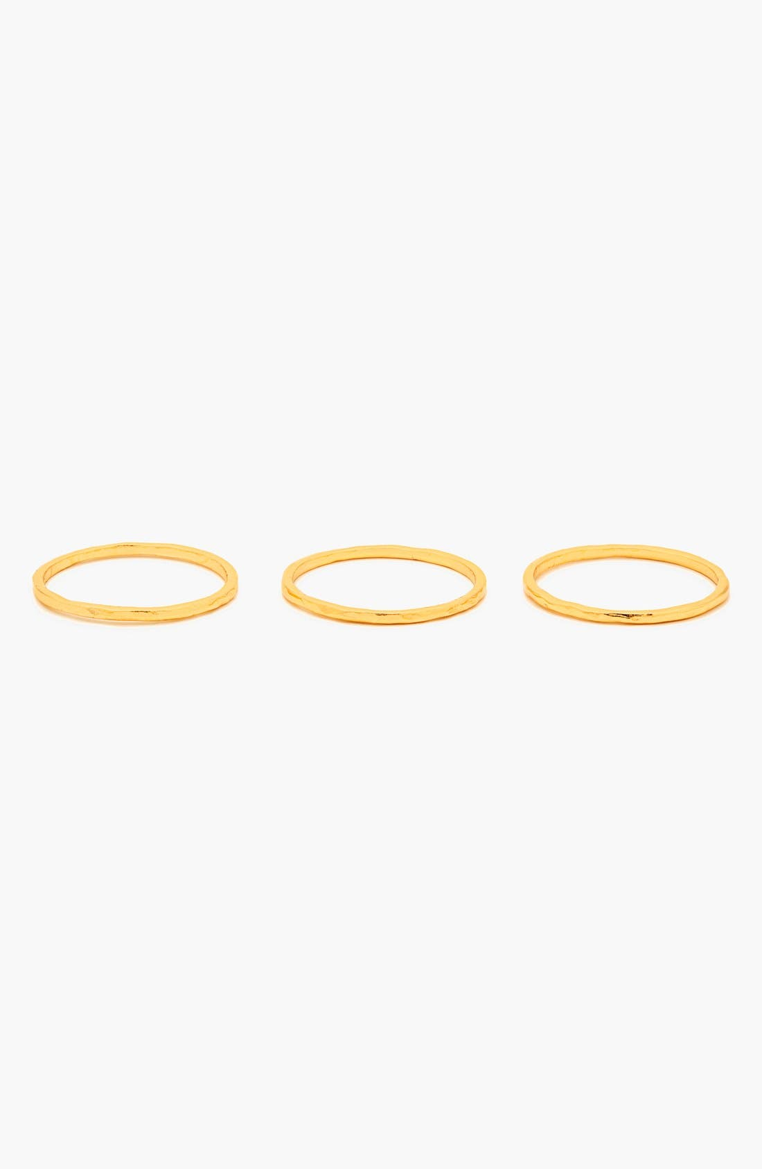Alternate Image 3  - gorjana 'G Ring' Hammered Stack Rings (Set of 3)