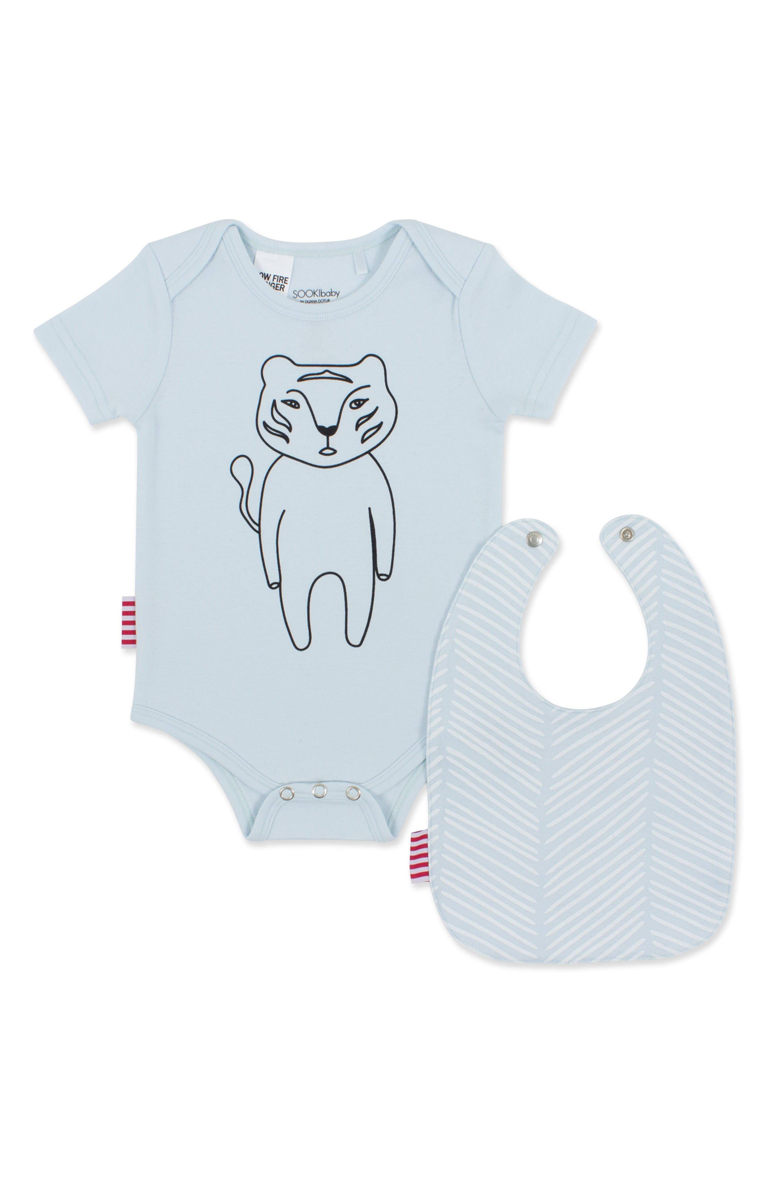SOOKIbaby Chevron Bodysuit & Bib Set (Baby)