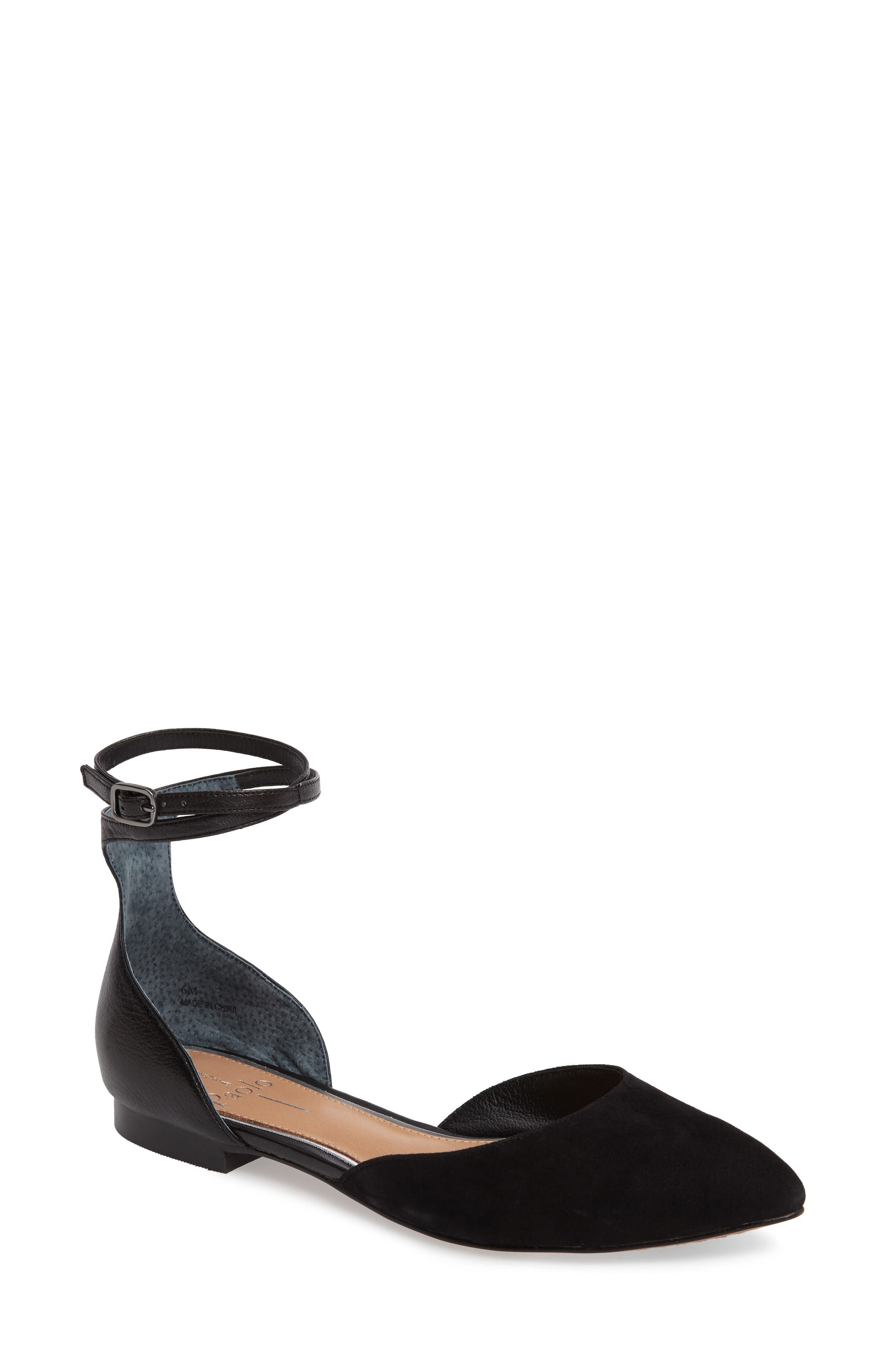 Alternate Image 1 Selected - Linea Paolo Dario Ankle Strap Flat (Women)