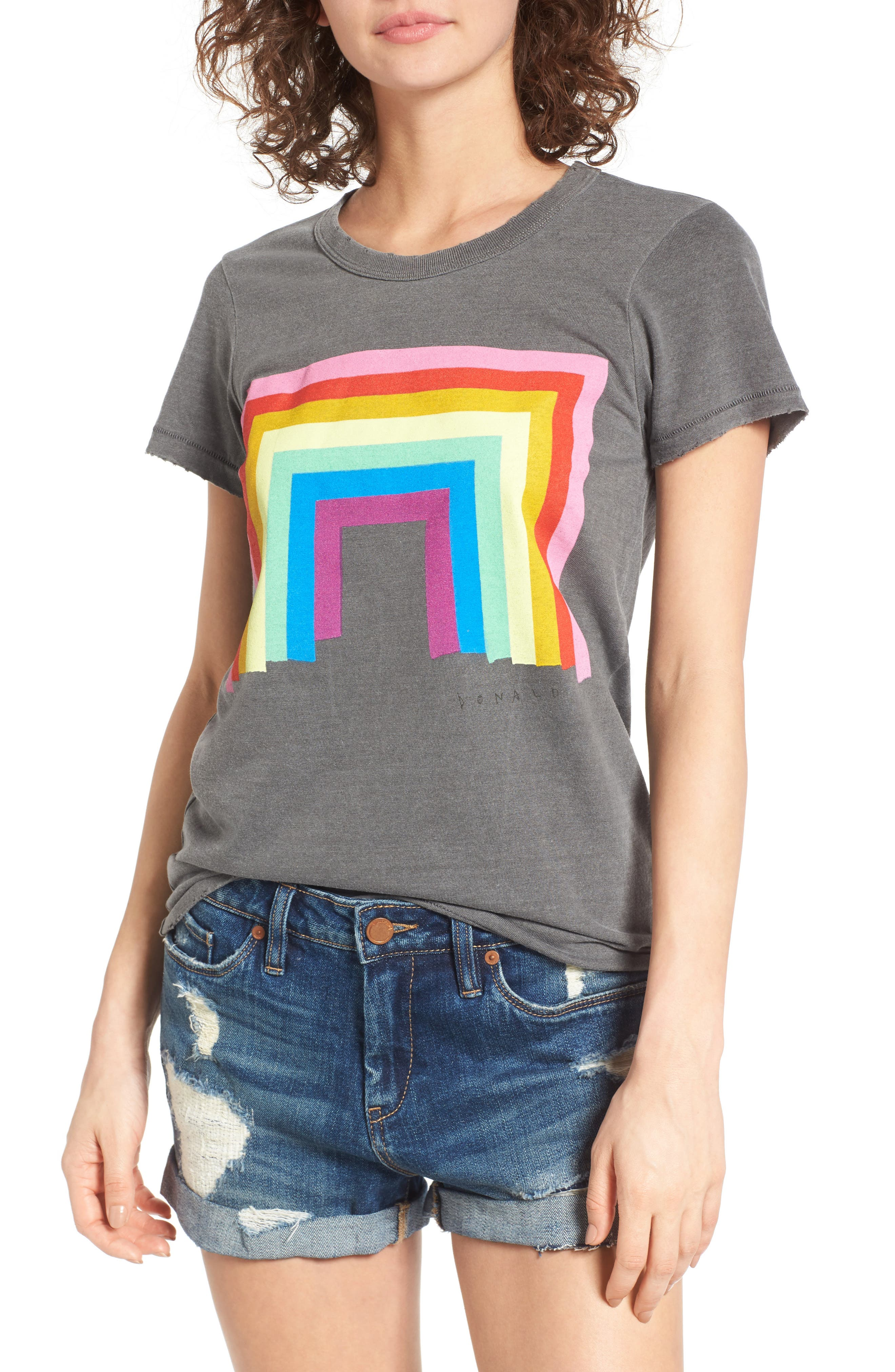 Junk Food Donald Robertson Rainbow Tee