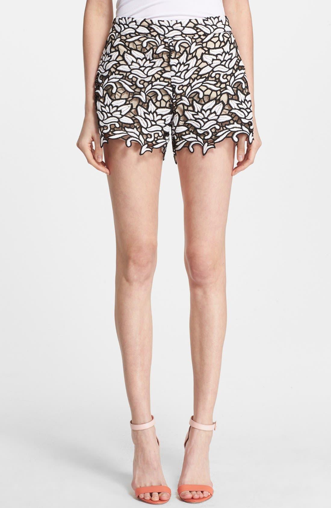 Main Image - Alice + Olivia High Waist Lace Shorts