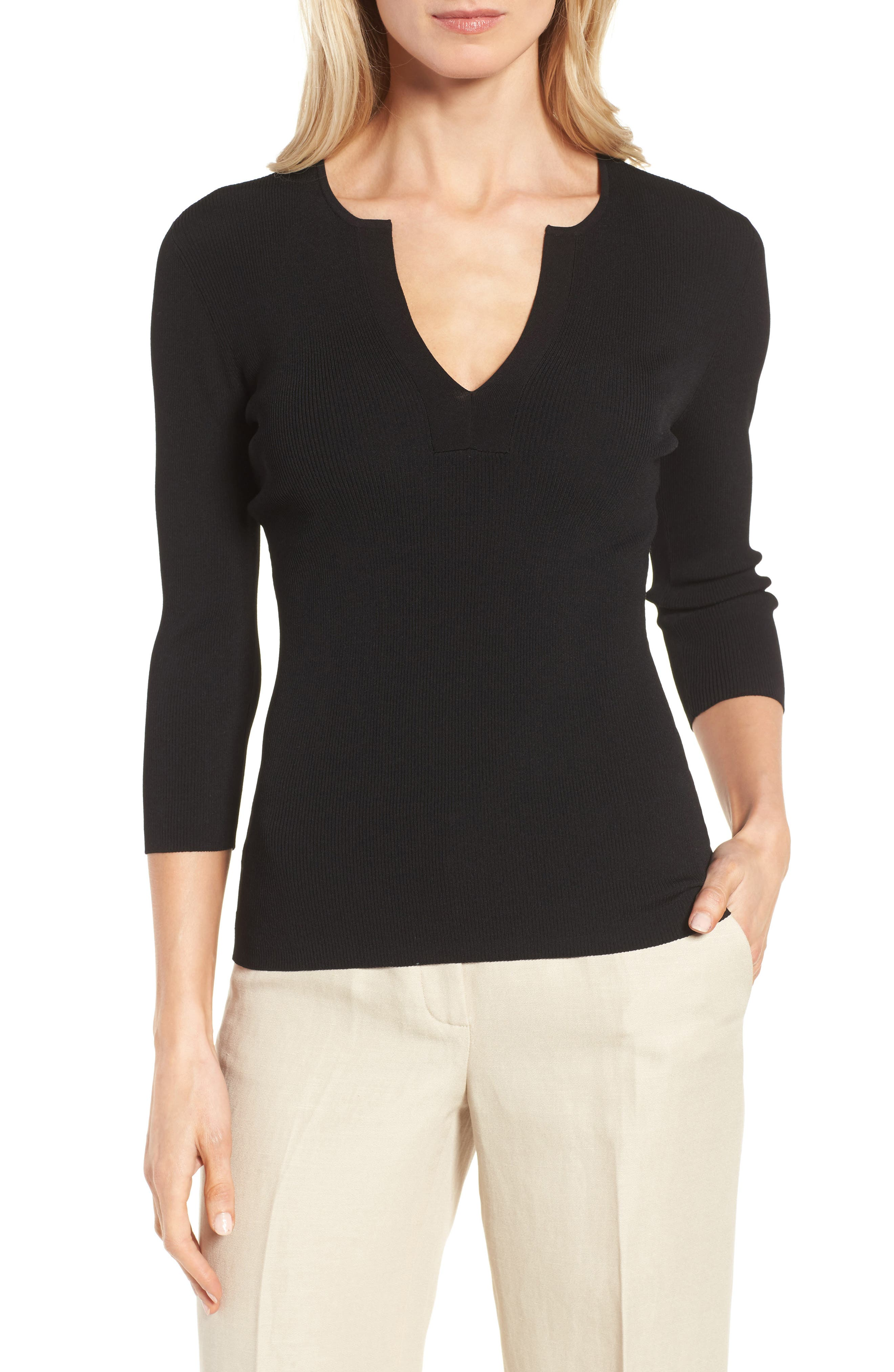 Classiques Entier® Rib Knit Pullover