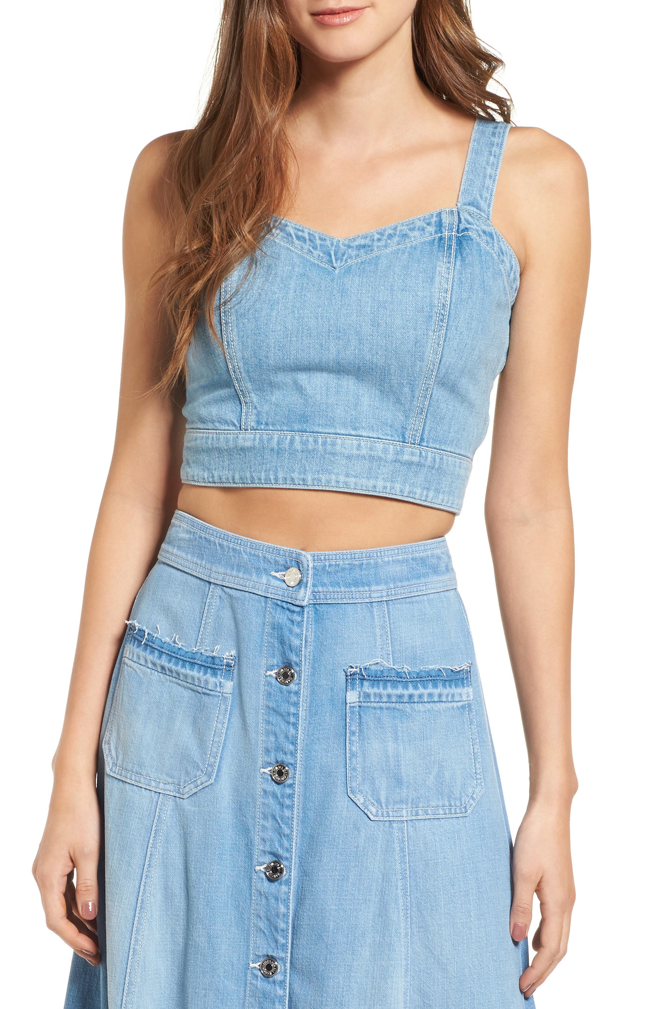 7 For All Mankind® Denim Bustier