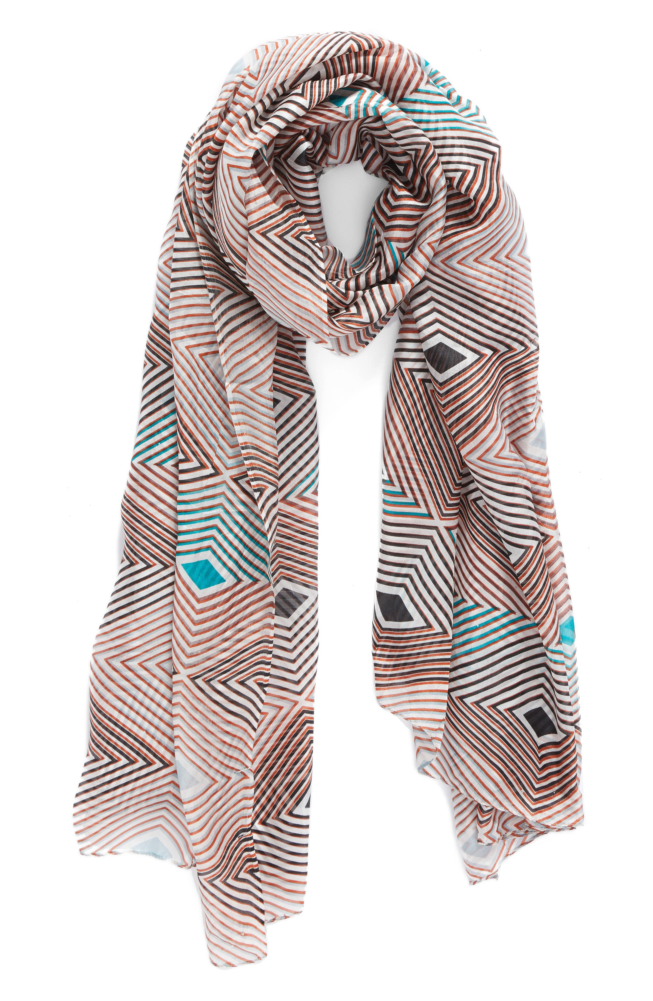La Fiorentina Geometric Silk Scarf