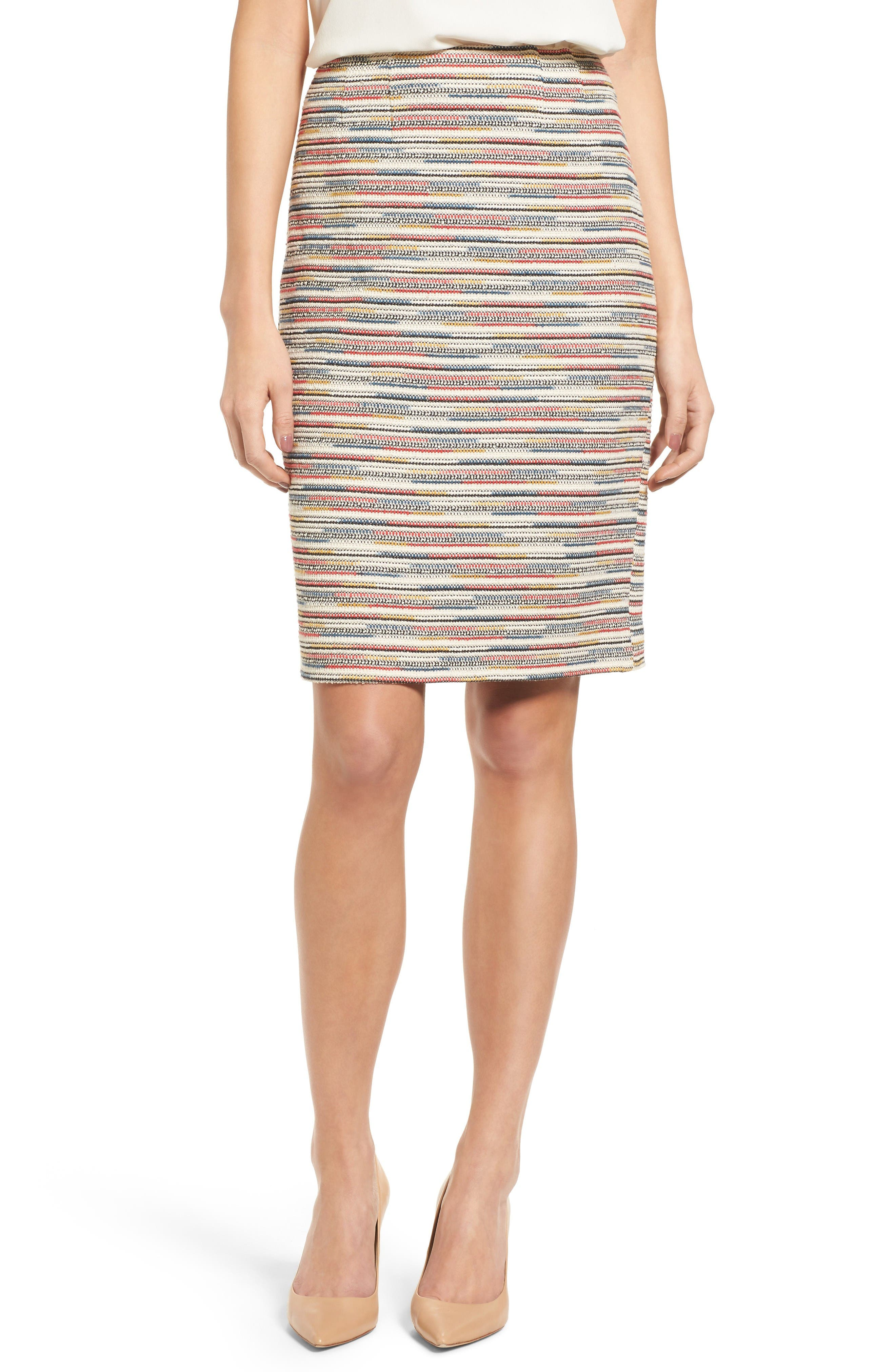 Emerson Rose Tweed Pencil Skirt