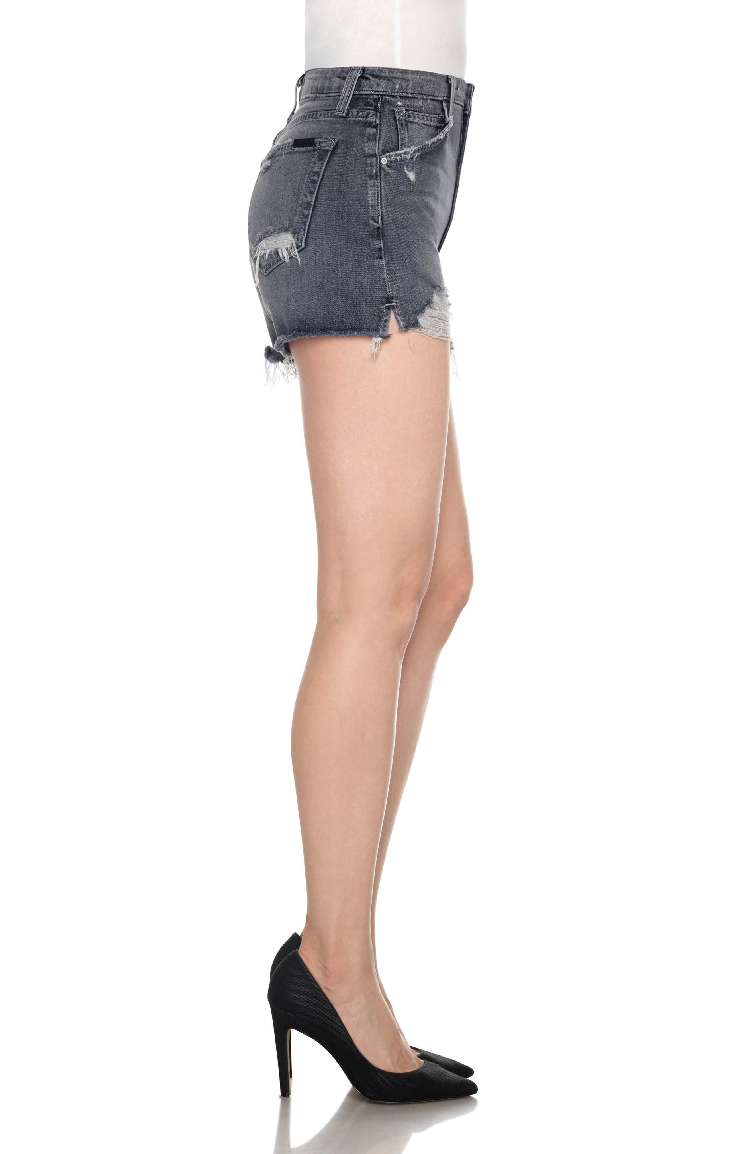 Alternate Image 3  - Joe's Collector's - Bella High Waist Cutoff Denim Shorts (Enni)