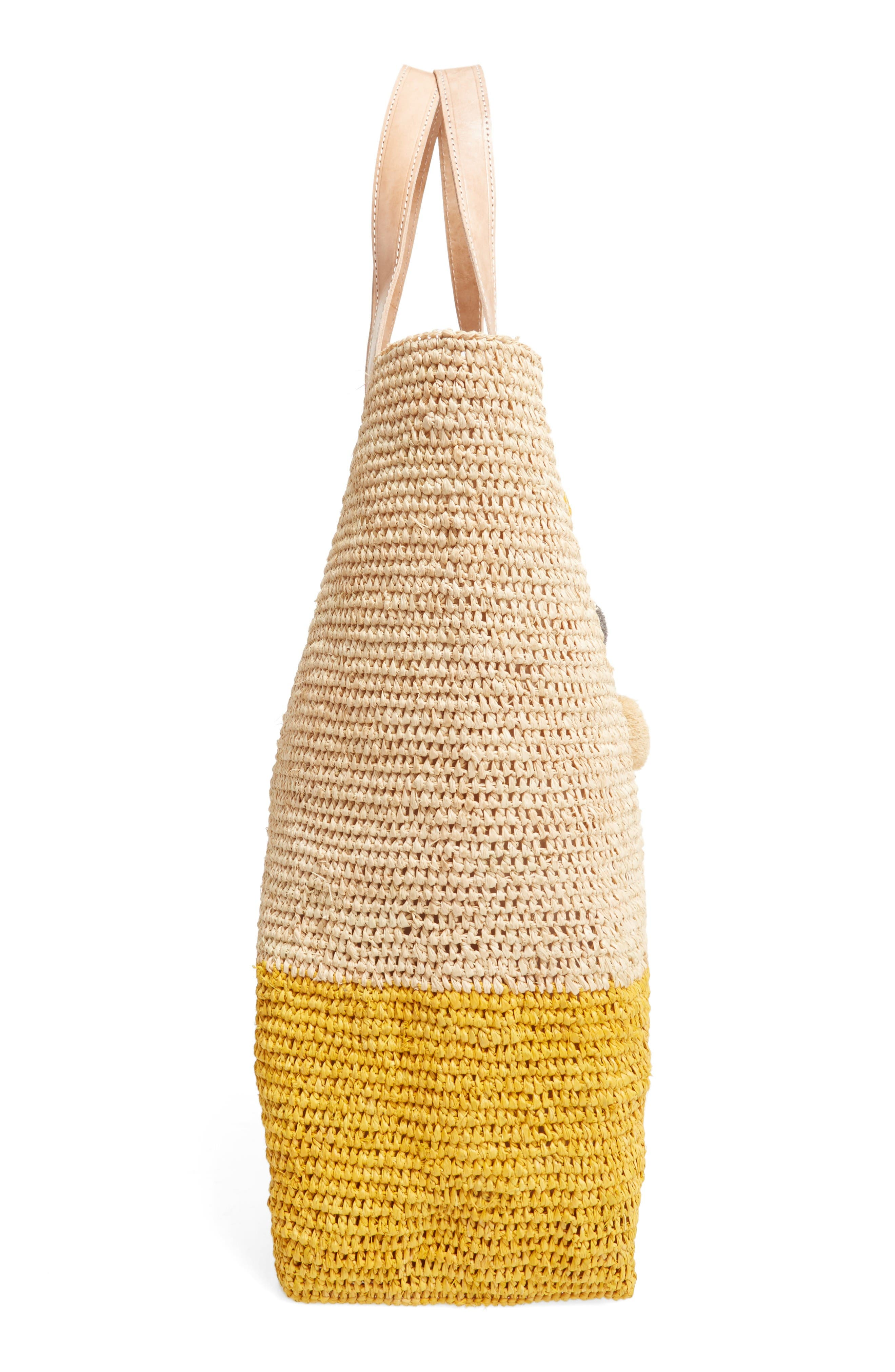 Alternate Image 5  - Mar y Sol Montauk Woven Tote with Pom Charms