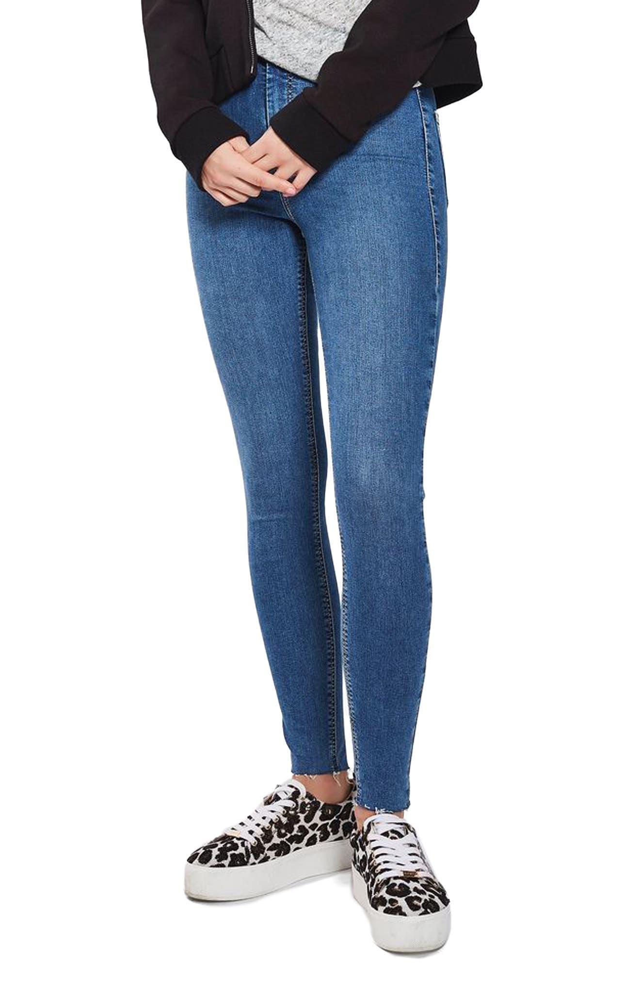 Topshop Joni Raw Hem Skinny Jeans