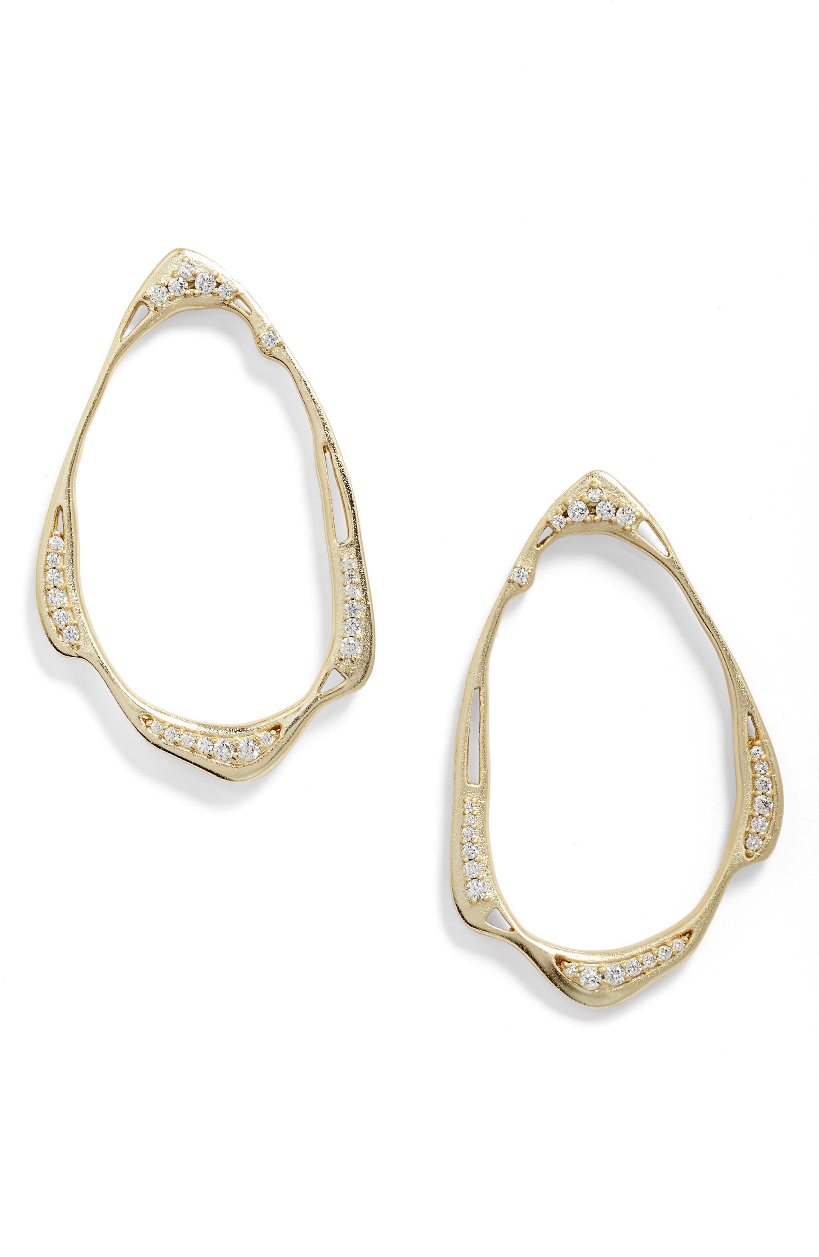 Kendra Scott Livi Frontal Hoop Earrings