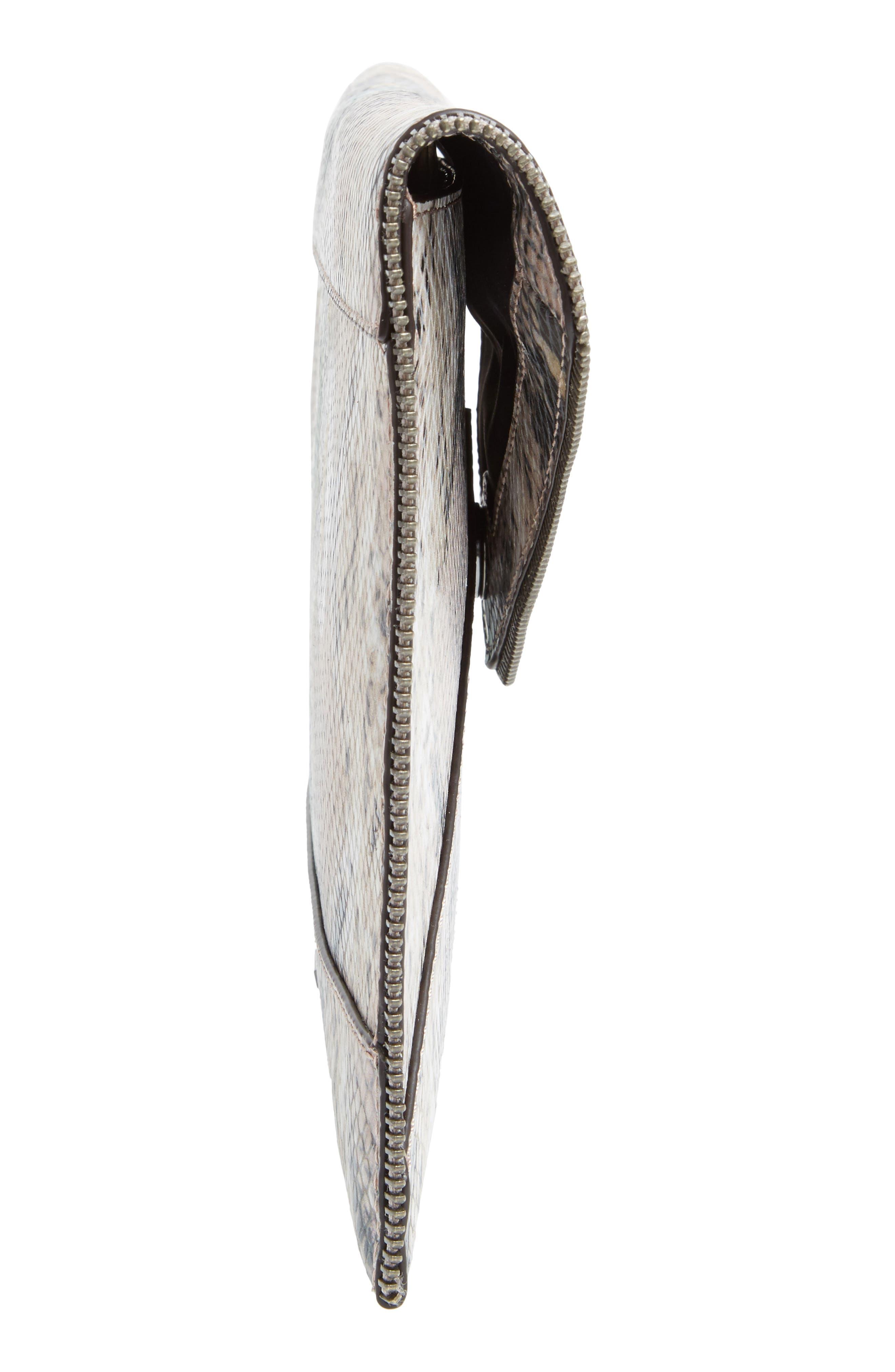 Alternate Image 5  - Rebecca Minkoff Leo Snake Embossed Leather Clutch