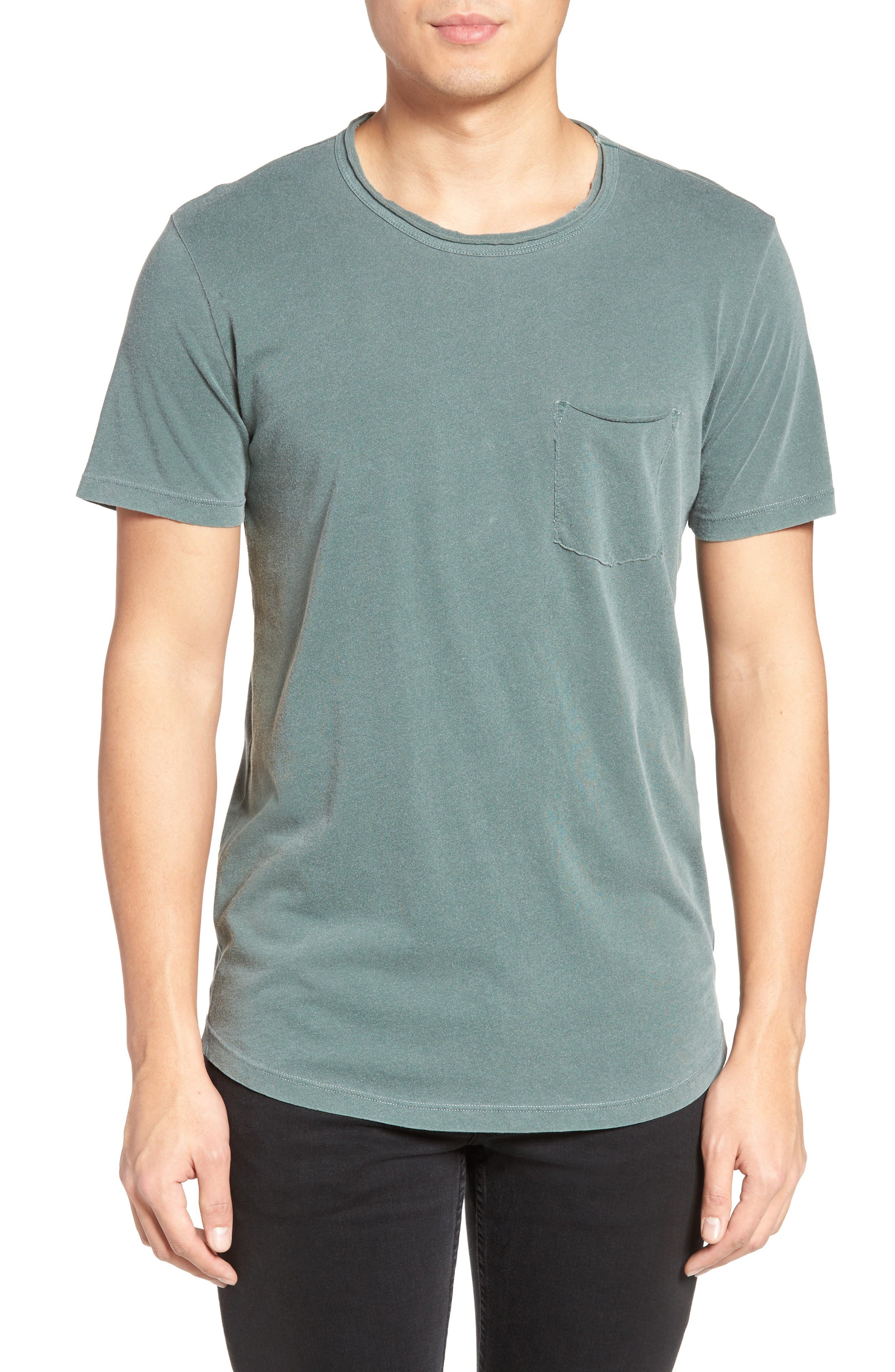 Velvet by Graham & Spencer Raw Edge Pocket T-Shirt