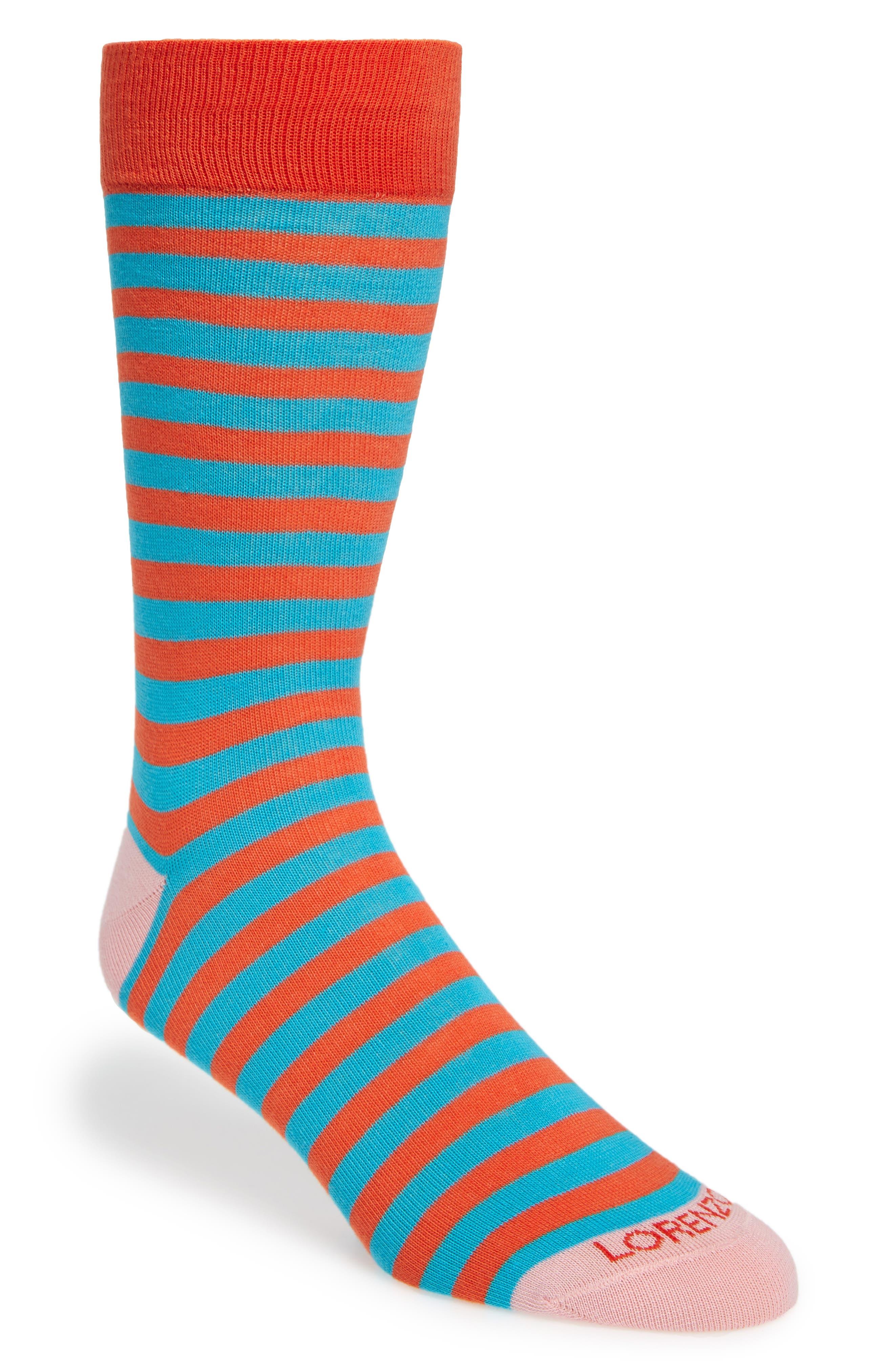Lorenzo Uomo Stripe Socks (3 for $30)