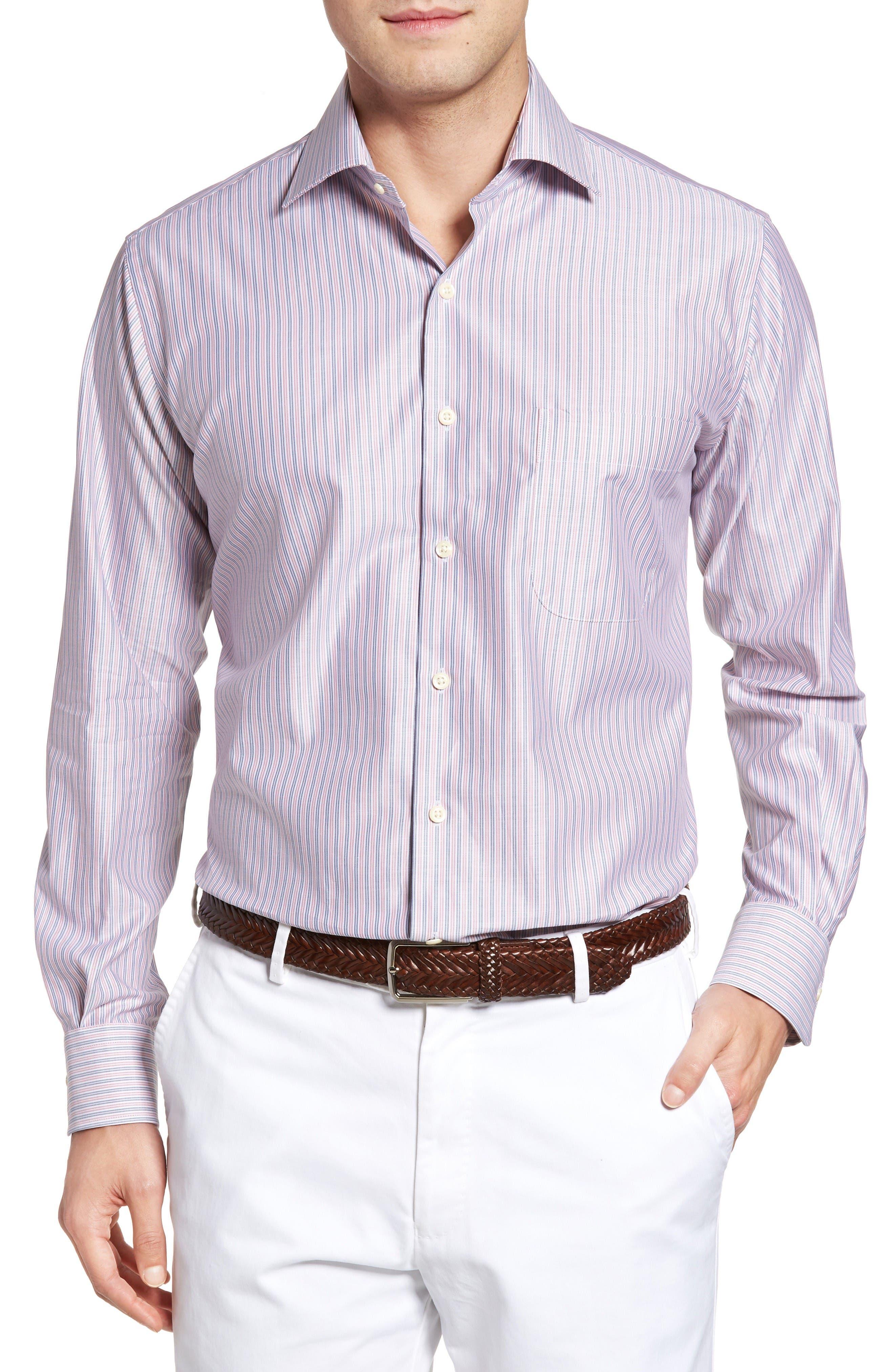 Peter Millar Hilo Regular Fit Stripe Sport Shirt