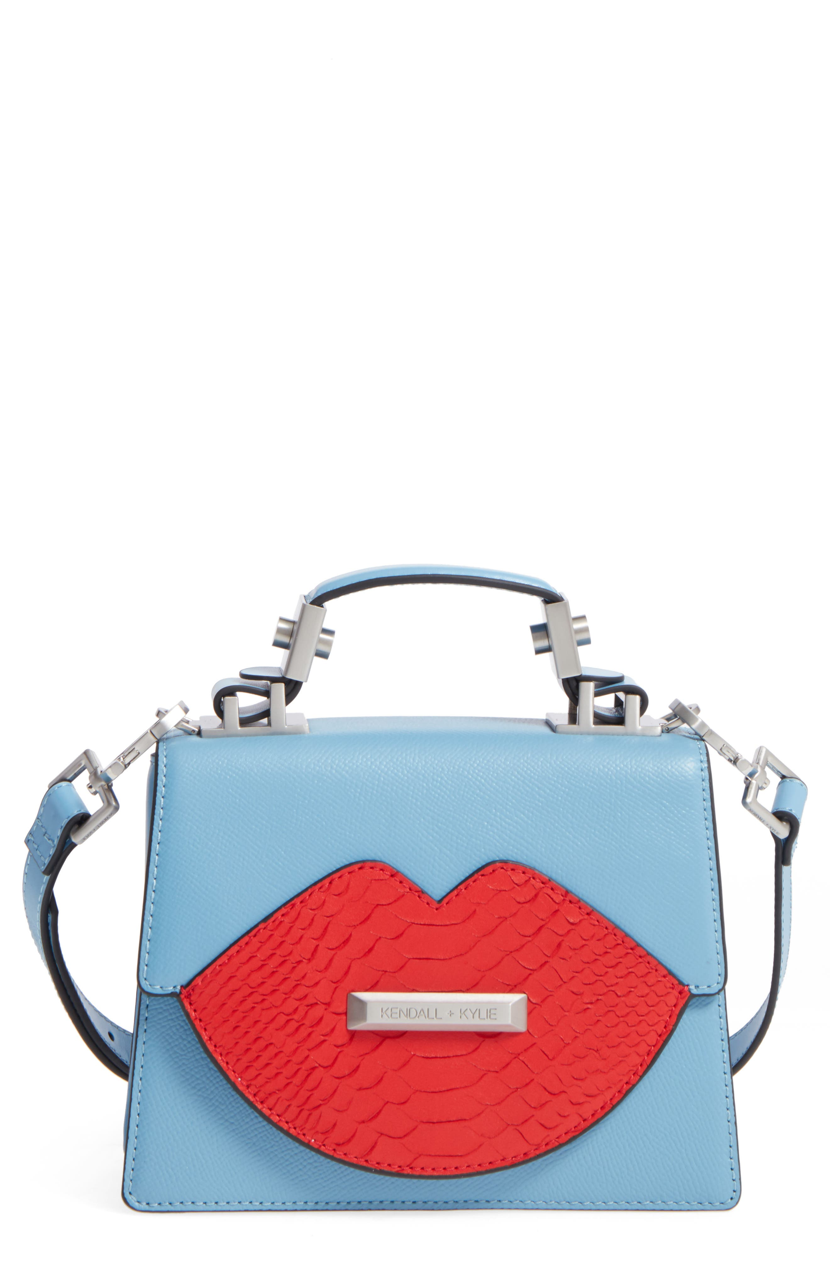 Main Image - KENDALL + KYLIE Lips Leather Top Handle Satchel