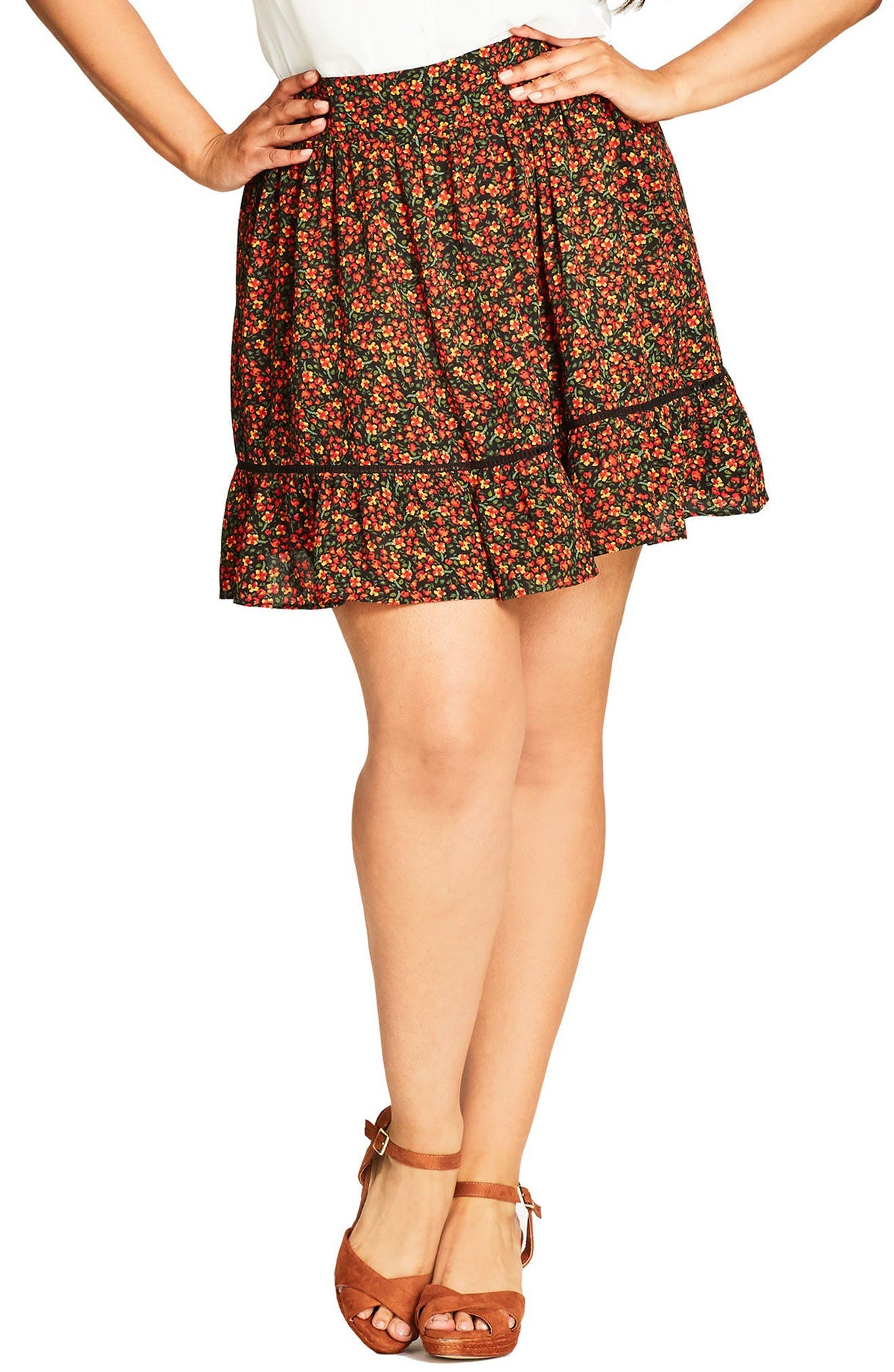 City Chic Free Love Minskirt (Plus Size)