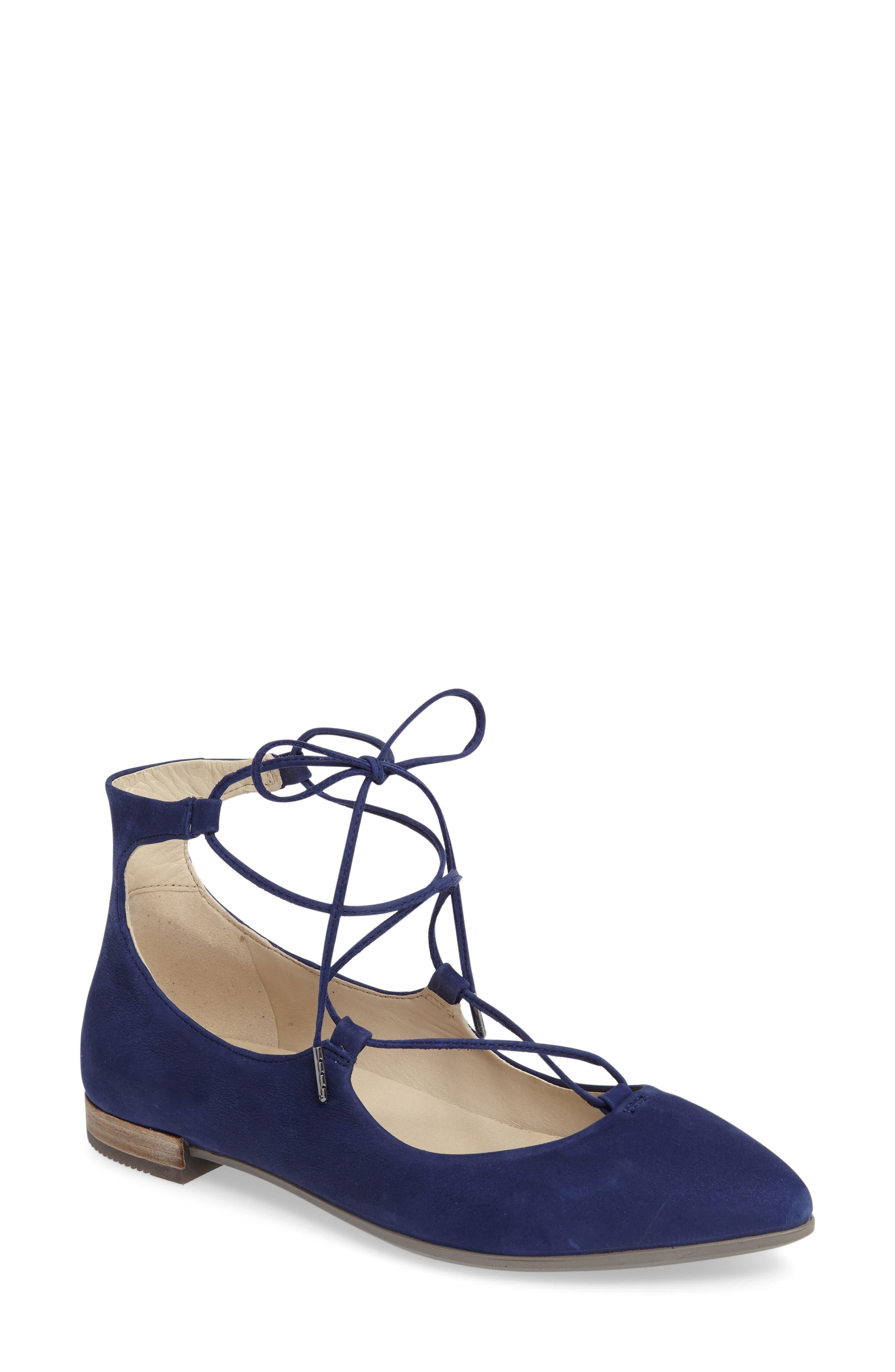 Main Image - ECCO Shape Ankle Wrap Ballet Flat (Women)