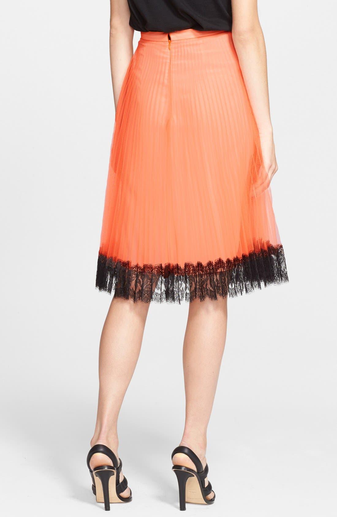 Alternate Image 2  - Christopher Kane Lace Trim Pleated Tulle Skirt