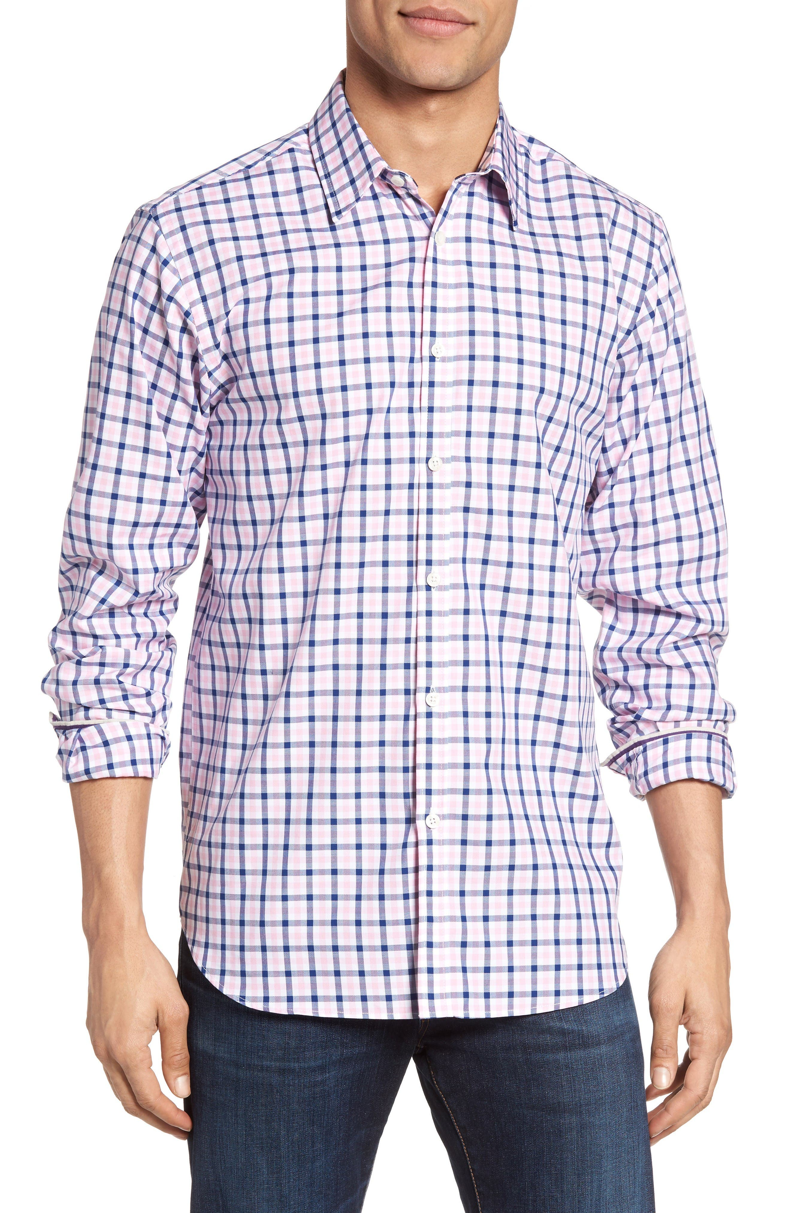 Jeremy Argyle Fitted Check Tattersall Sport Shirt