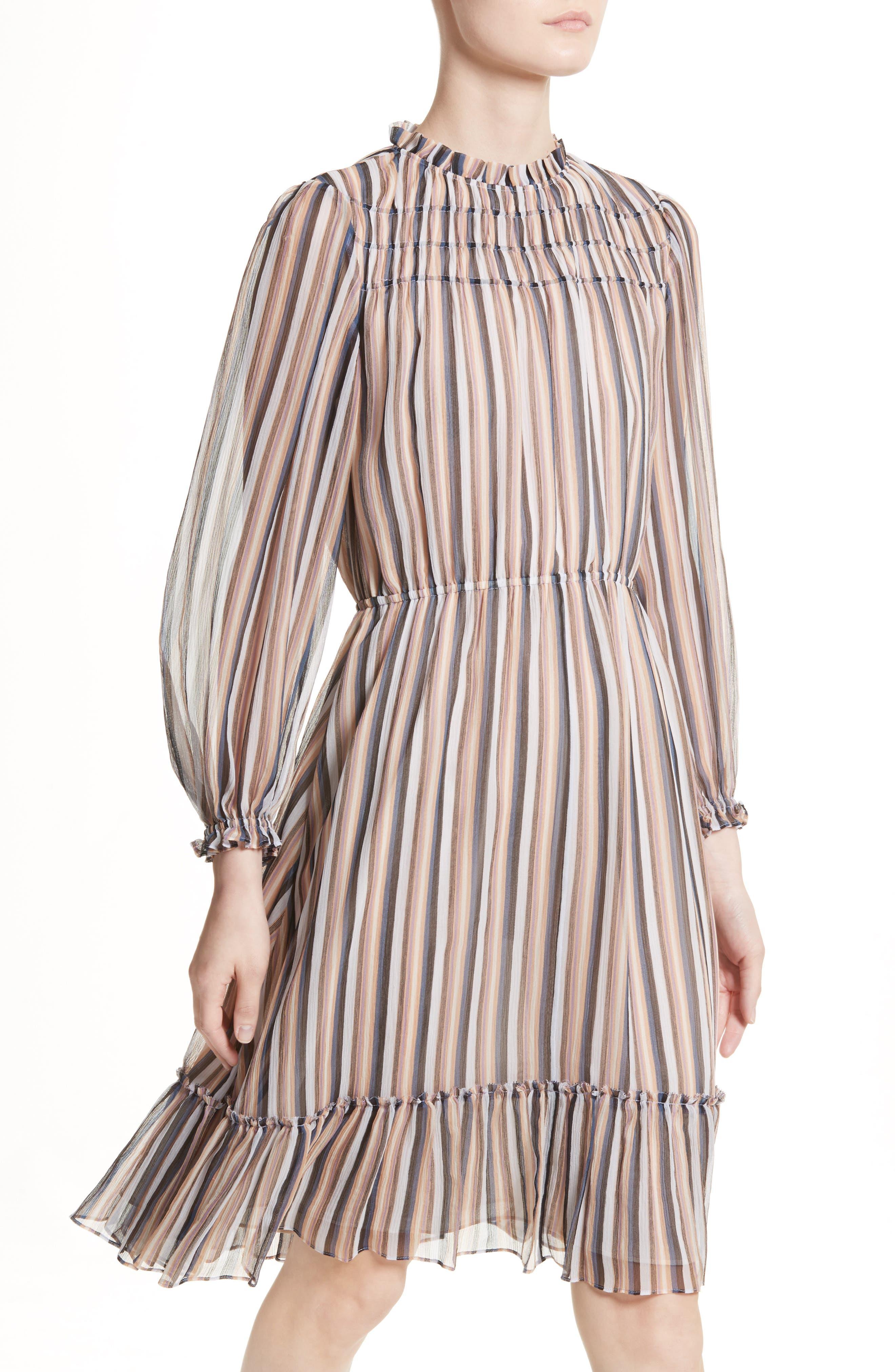 Alternate Image 4  - Derek Lam 10 Crosby Stripe Ruffle Dress
