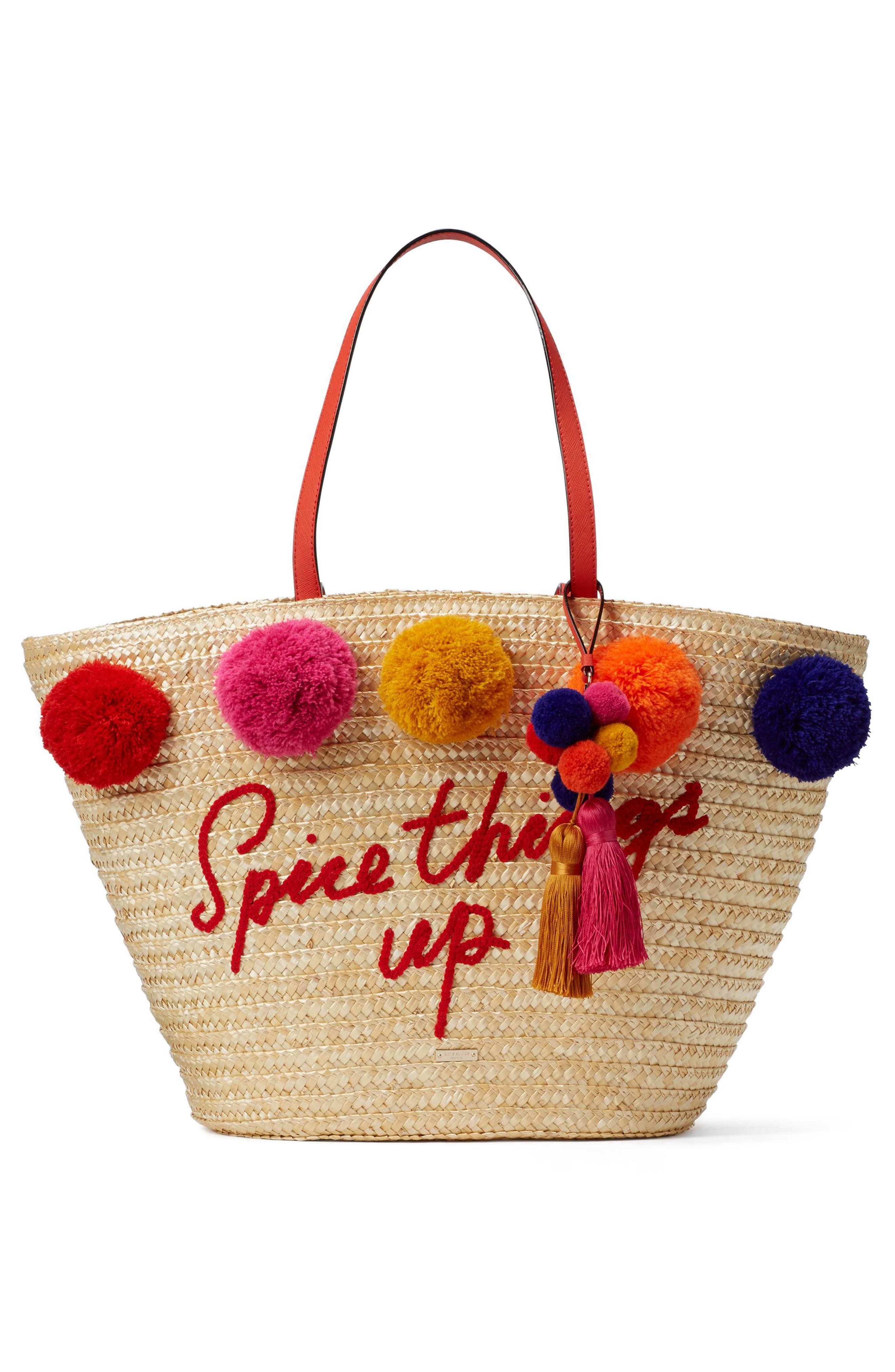 Alternate Image 1 Selected - kate spade new york lewis way pompom tote