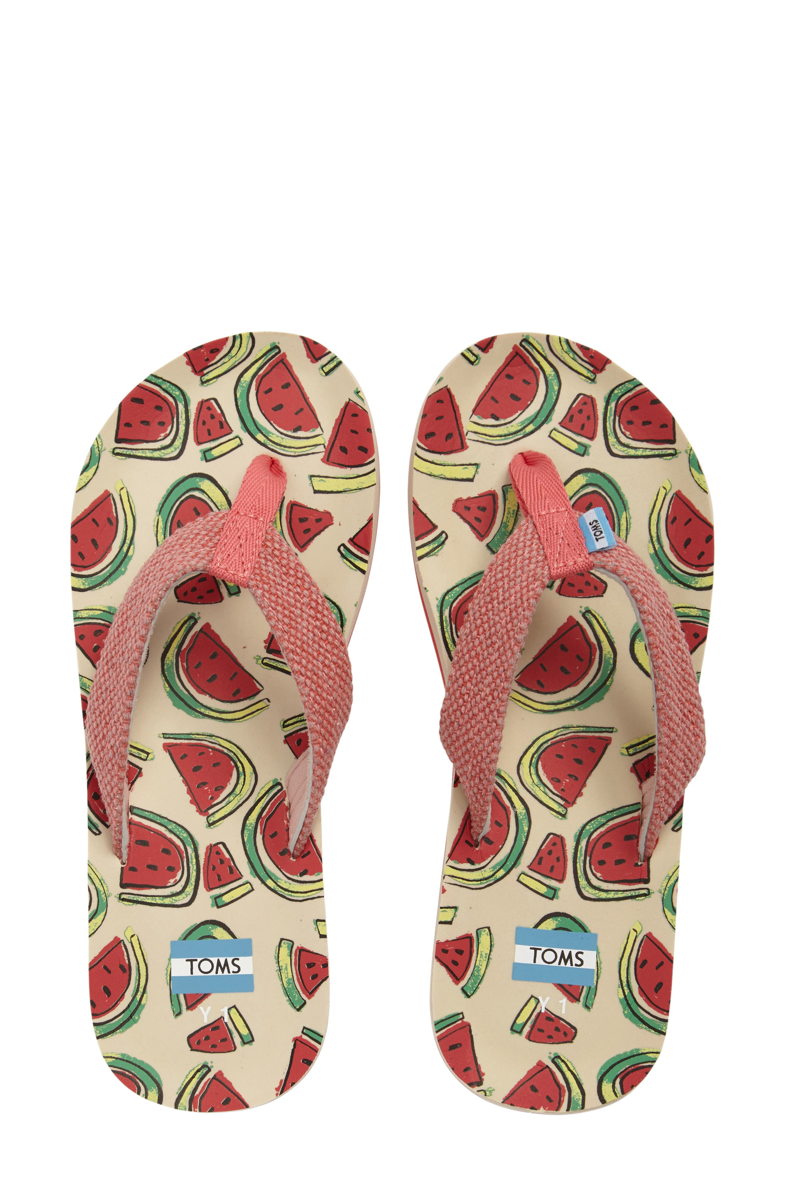 TOMS Verano Print Flip Flop (Toddler, Little Kid & Big Kid)