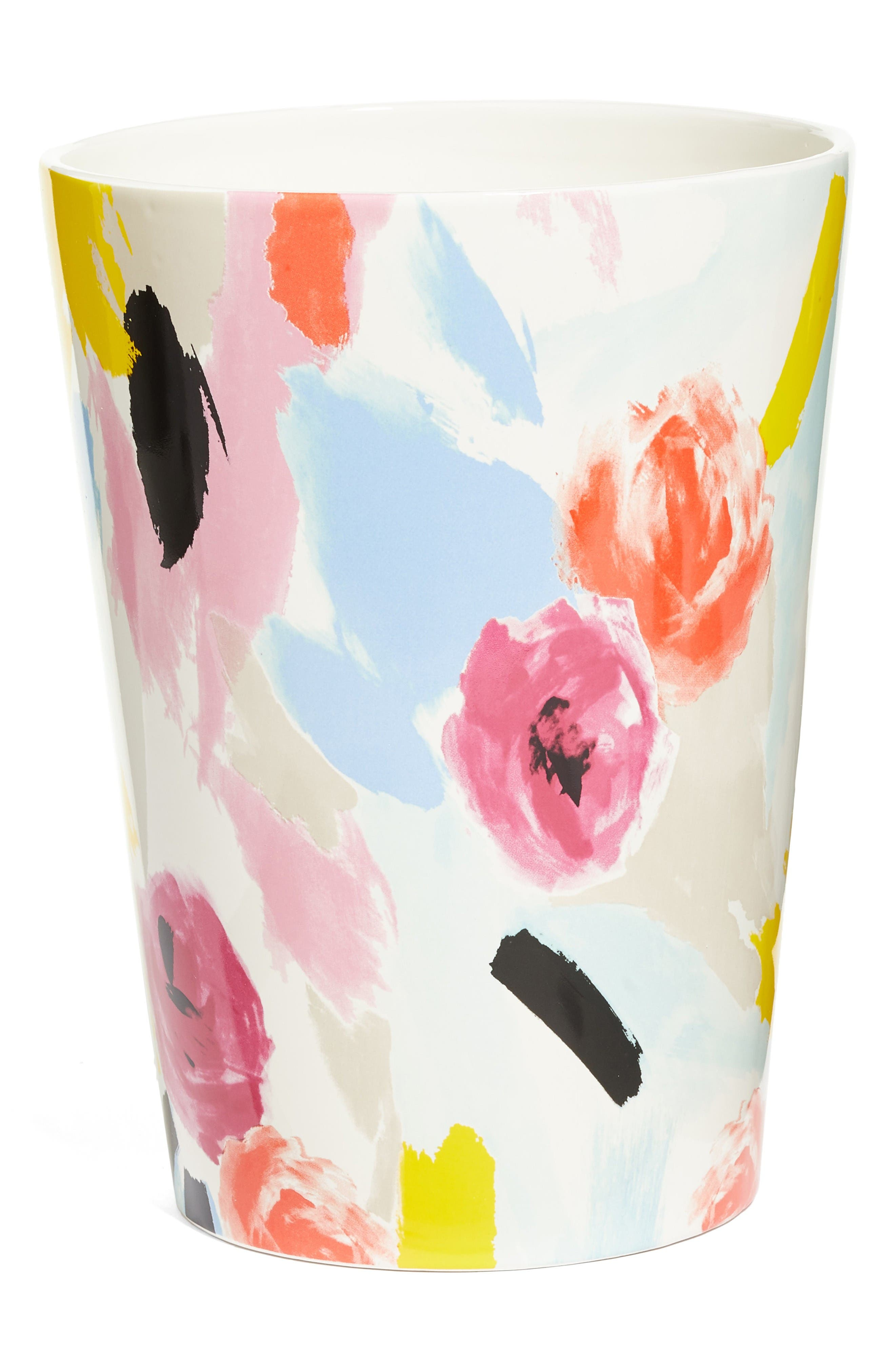 kate spade new york paintball floral waste basket