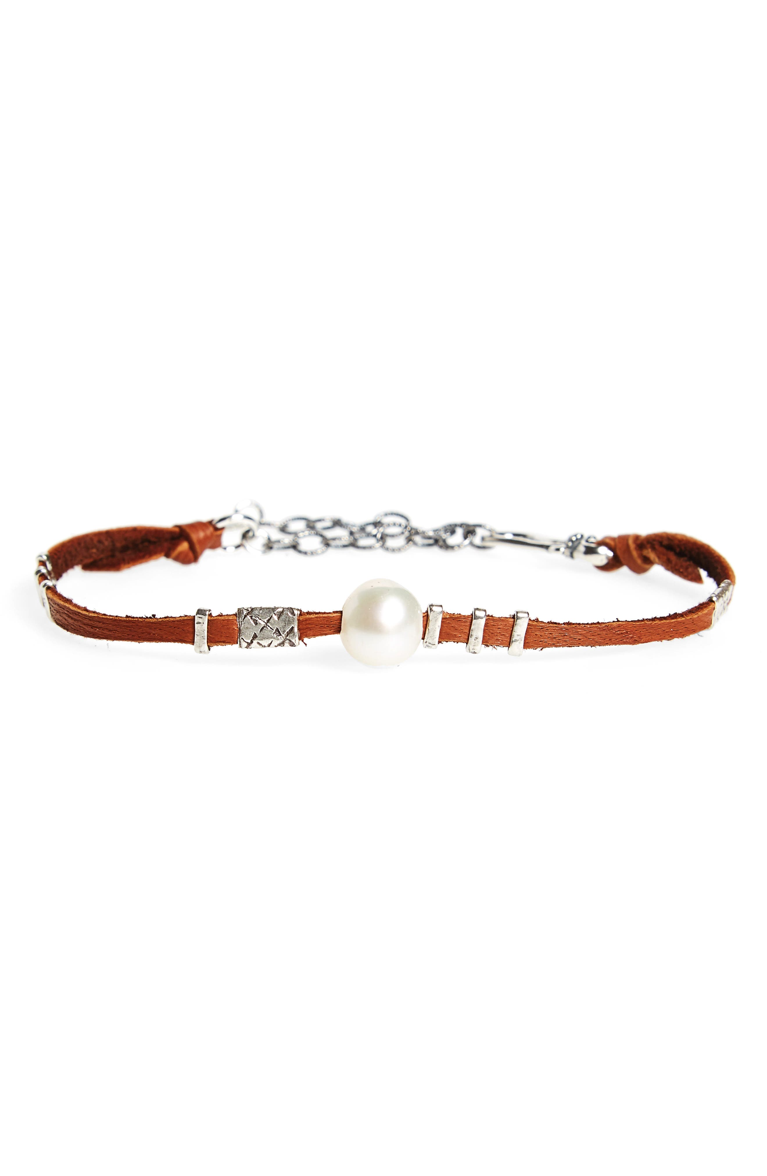 Chan Luu Pearl & Leather Bracelet