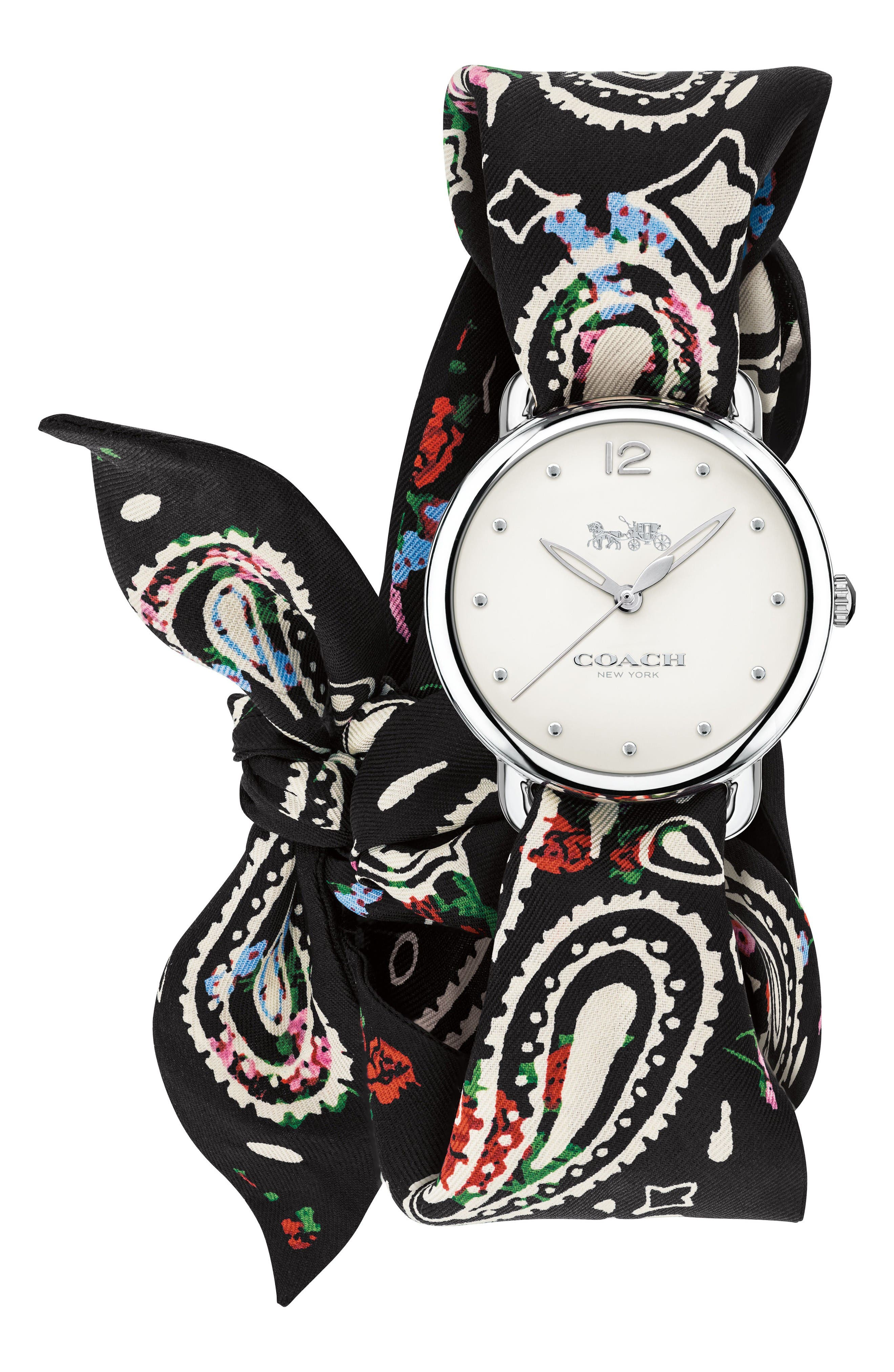COACH Delancey Silk Scarf Wrap Watch, 36mm