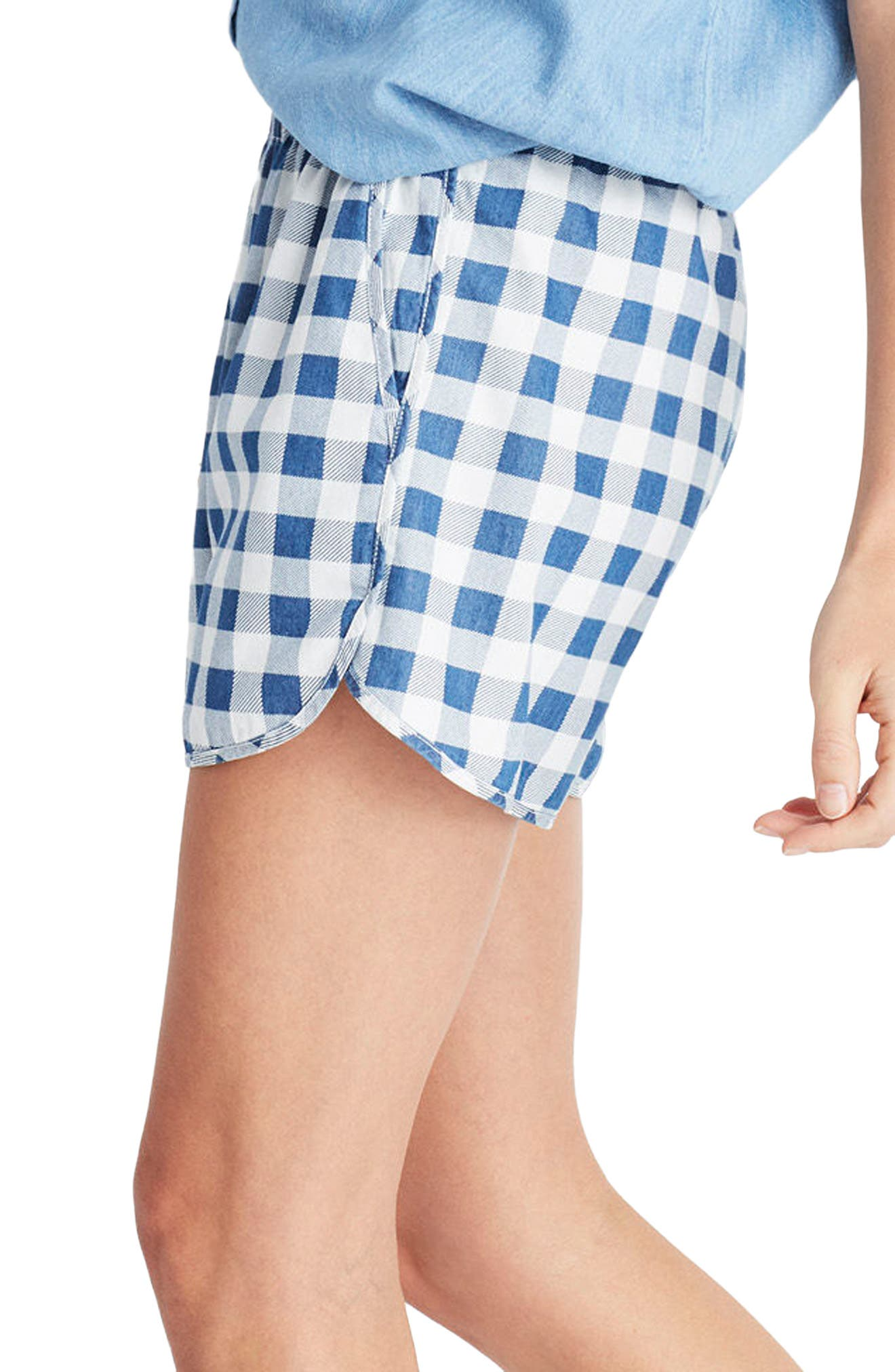 Alternate Image 3  - Madewell Gingham Check Pull-On Shorts