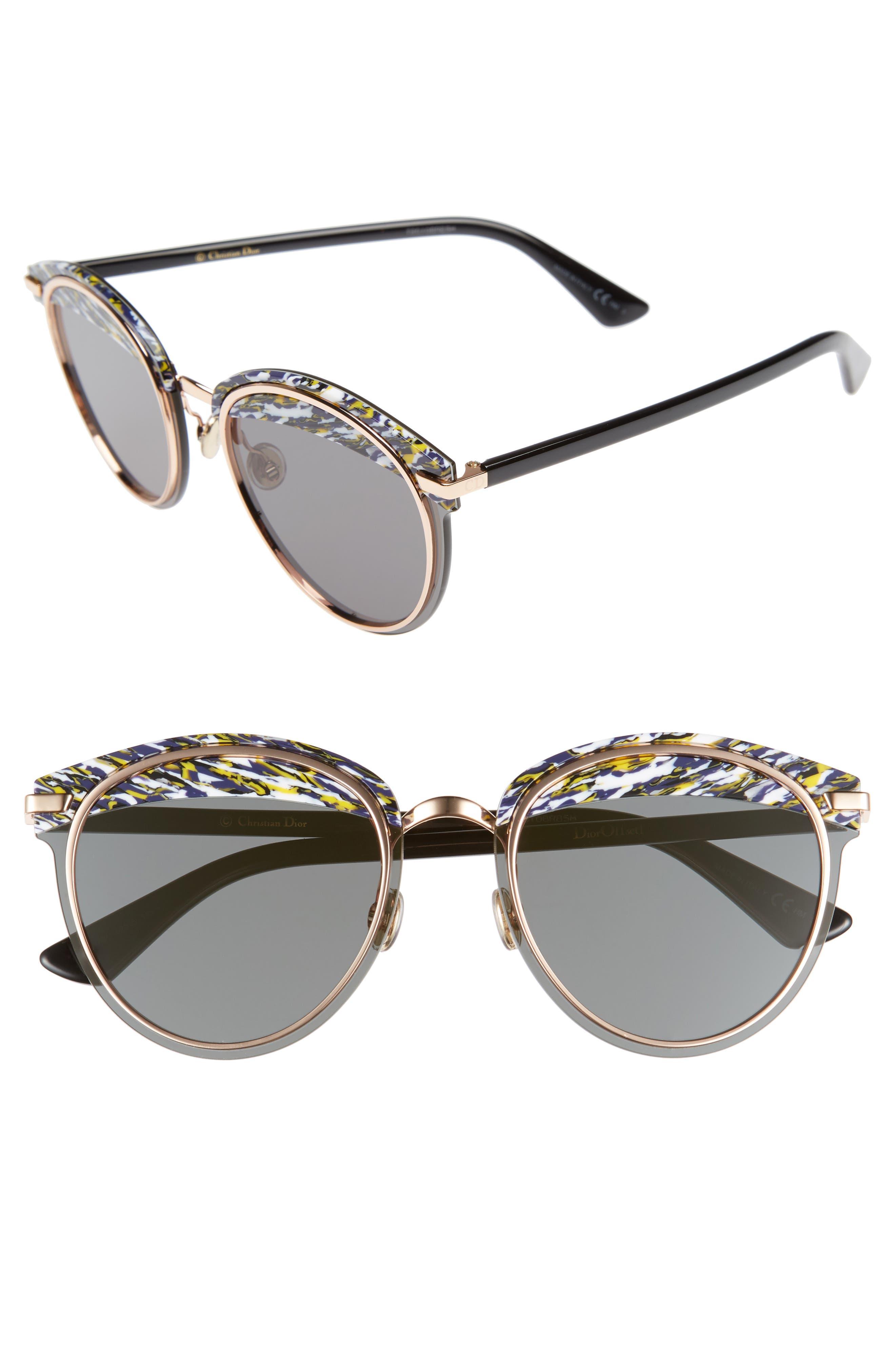 Dior Offset 62mm Round Sunglasses