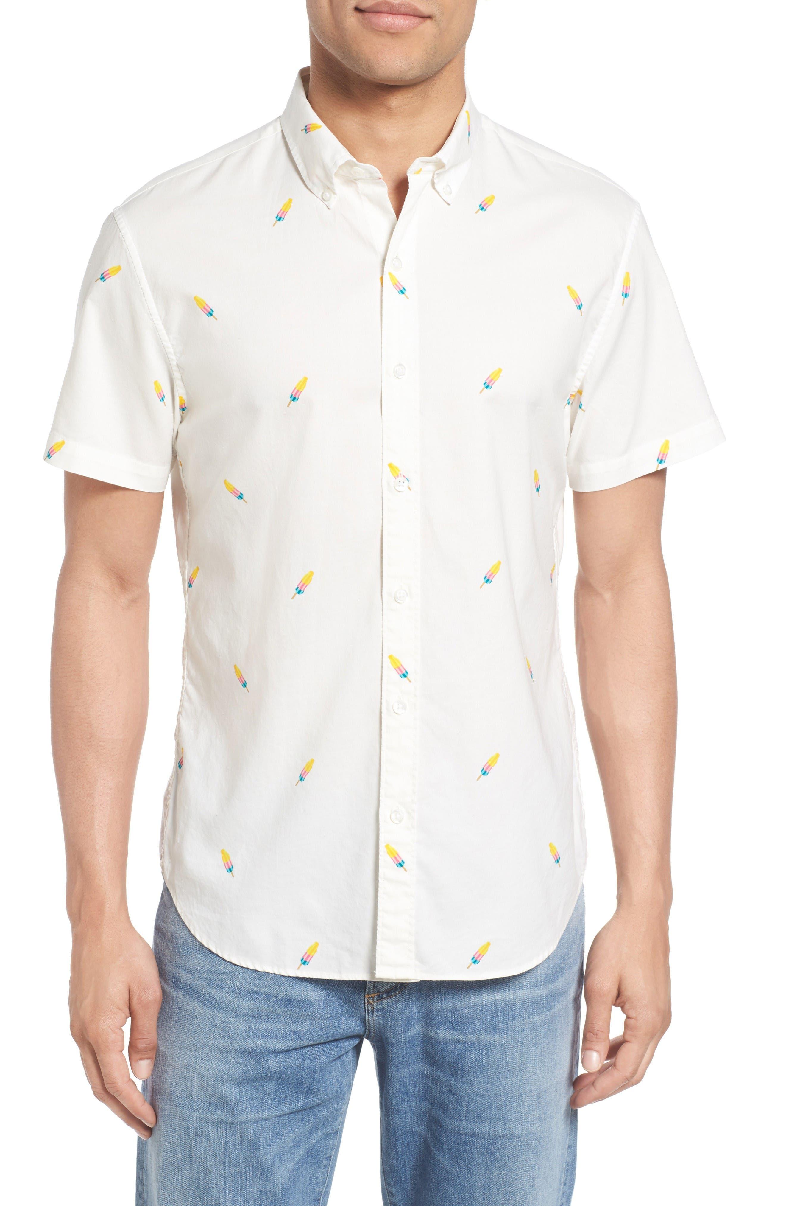 Bonobos Slim Fit Riviera Print Sport Shirt