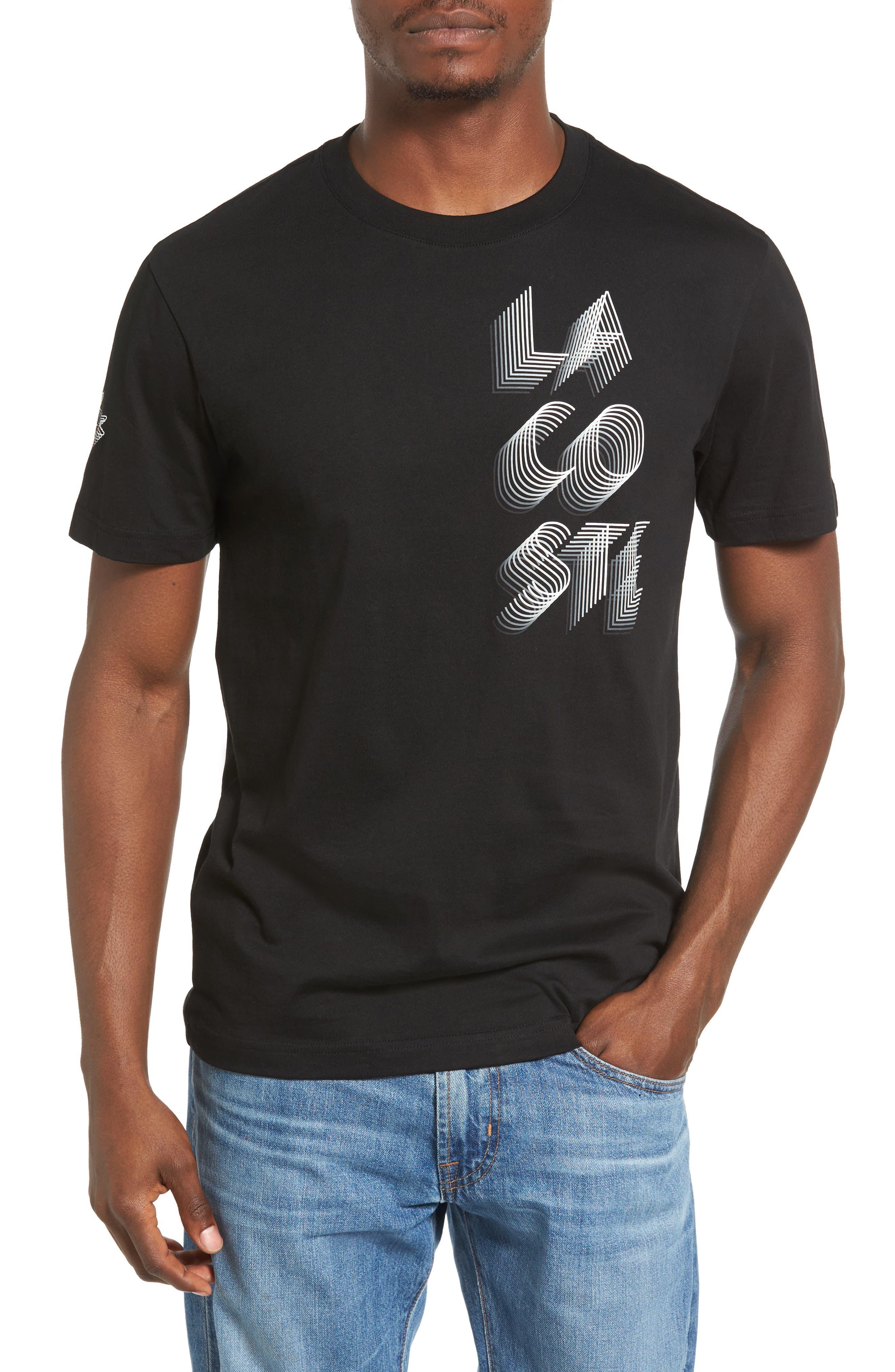 Lacoste 3D Print Logo Graphic T-Shirt