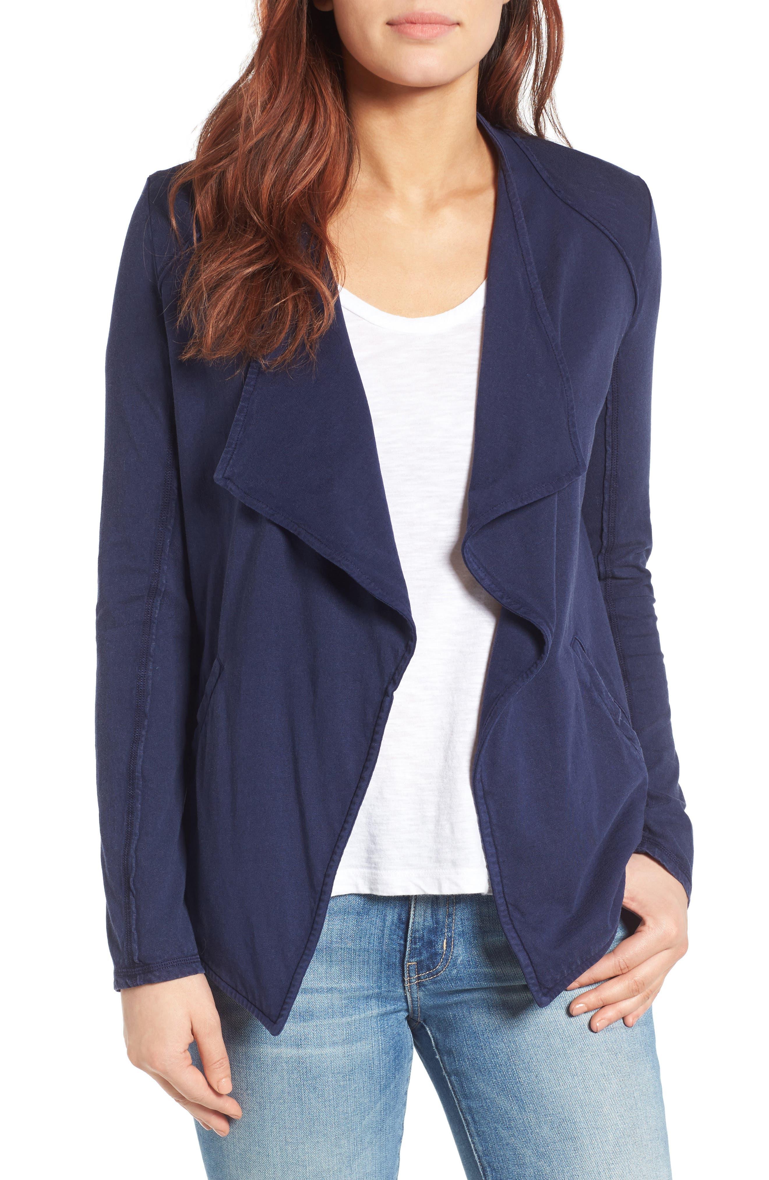 Caslon® Drapey Knit Jacket (Regular & Petite)