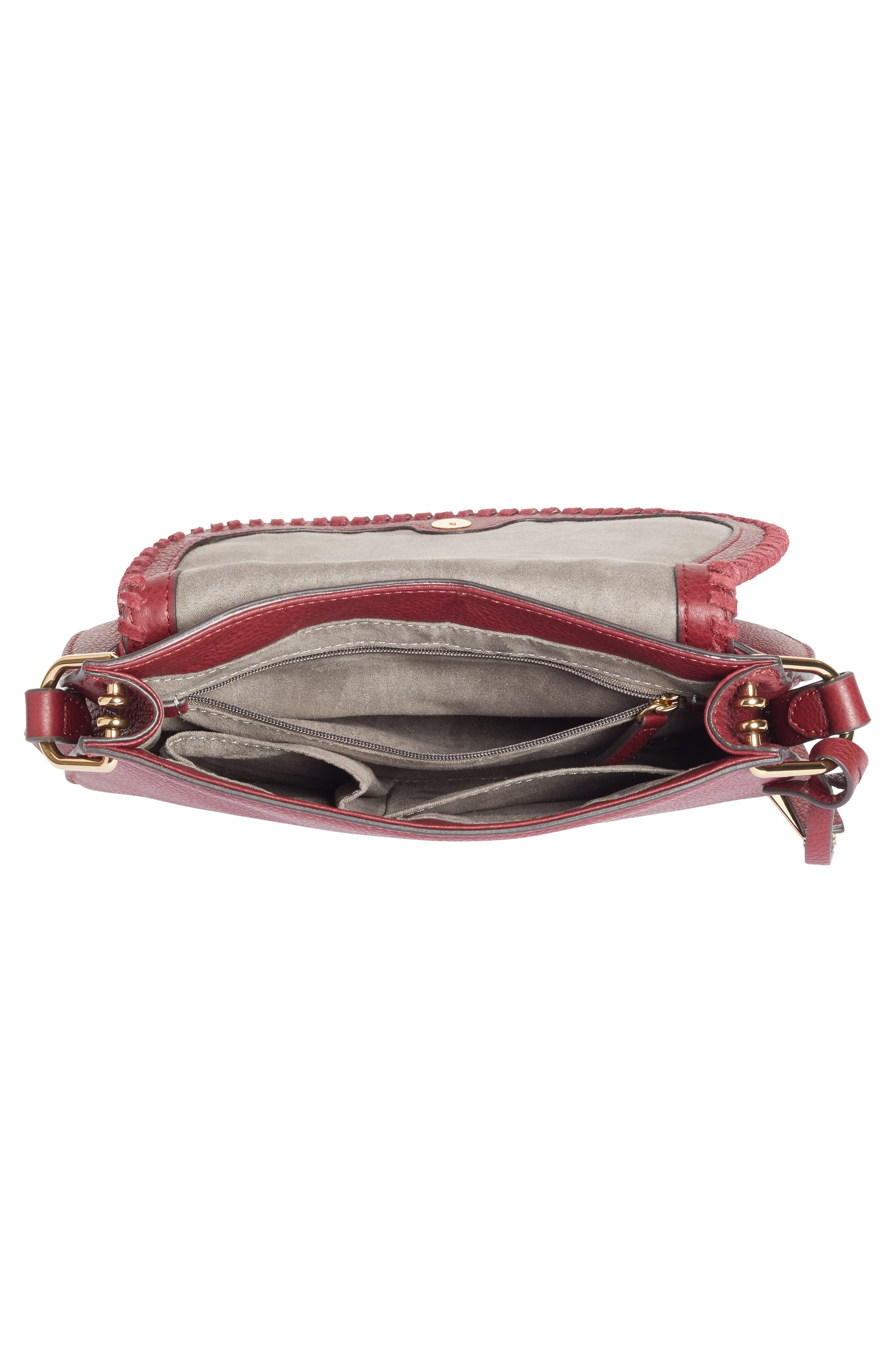 Alternate Image 4  - Vince Camuto Kirie Suede & Leather Crossbody Saddle Bag (Nordstrom Exclusive)
